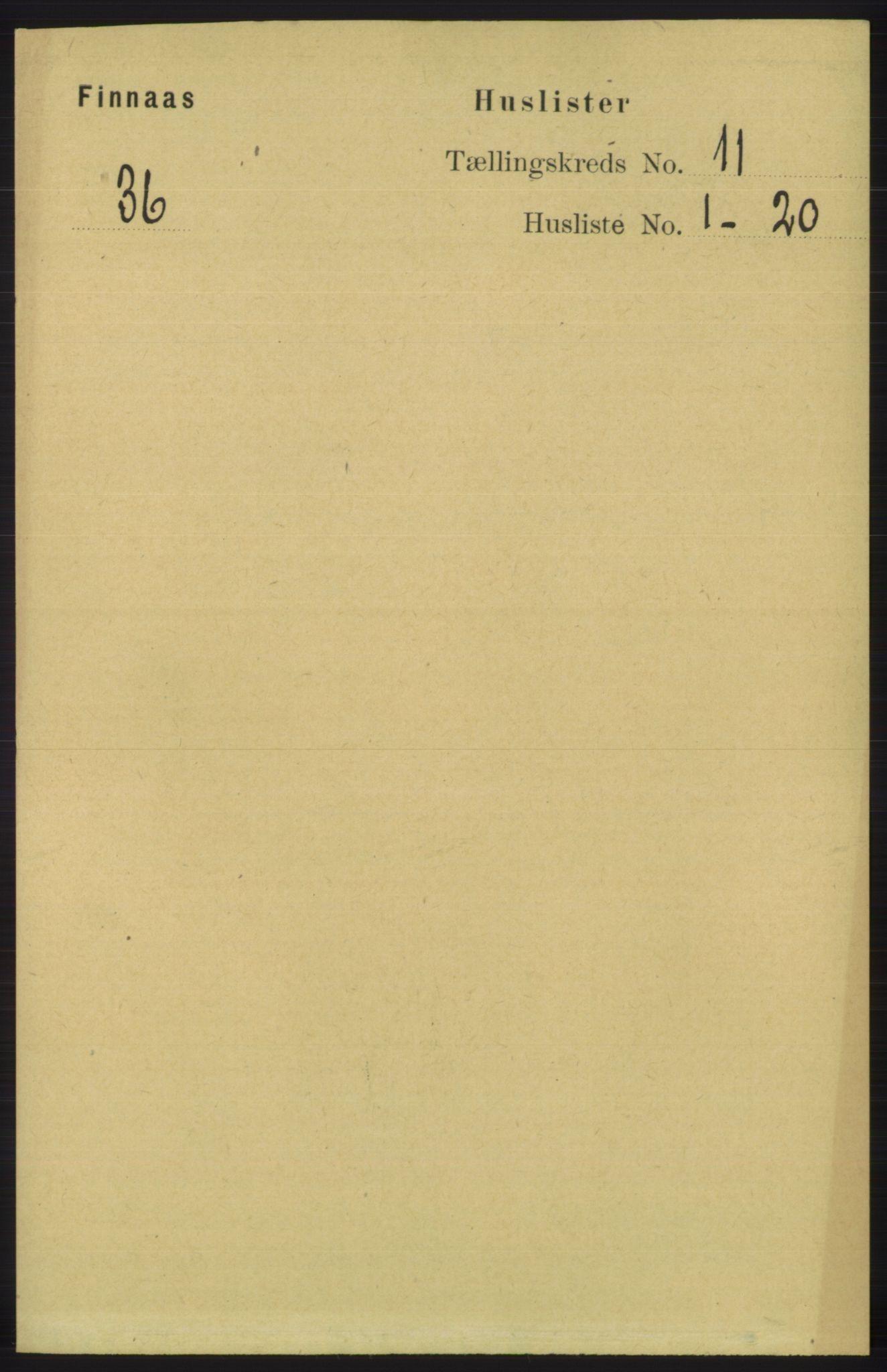 RA, Folketelling 1891 for 1218 Finnås herred, 1891, s. 5102