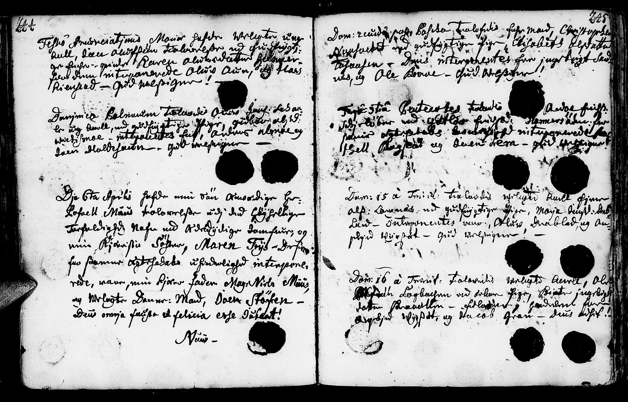 SAT, Ministerialprotokoller, klokkerbøker og fødselsregistre - Nord-Trøndelag, 749/L0467: Ministerialbok nr. 749A01, 1733-1787, s. 244-245