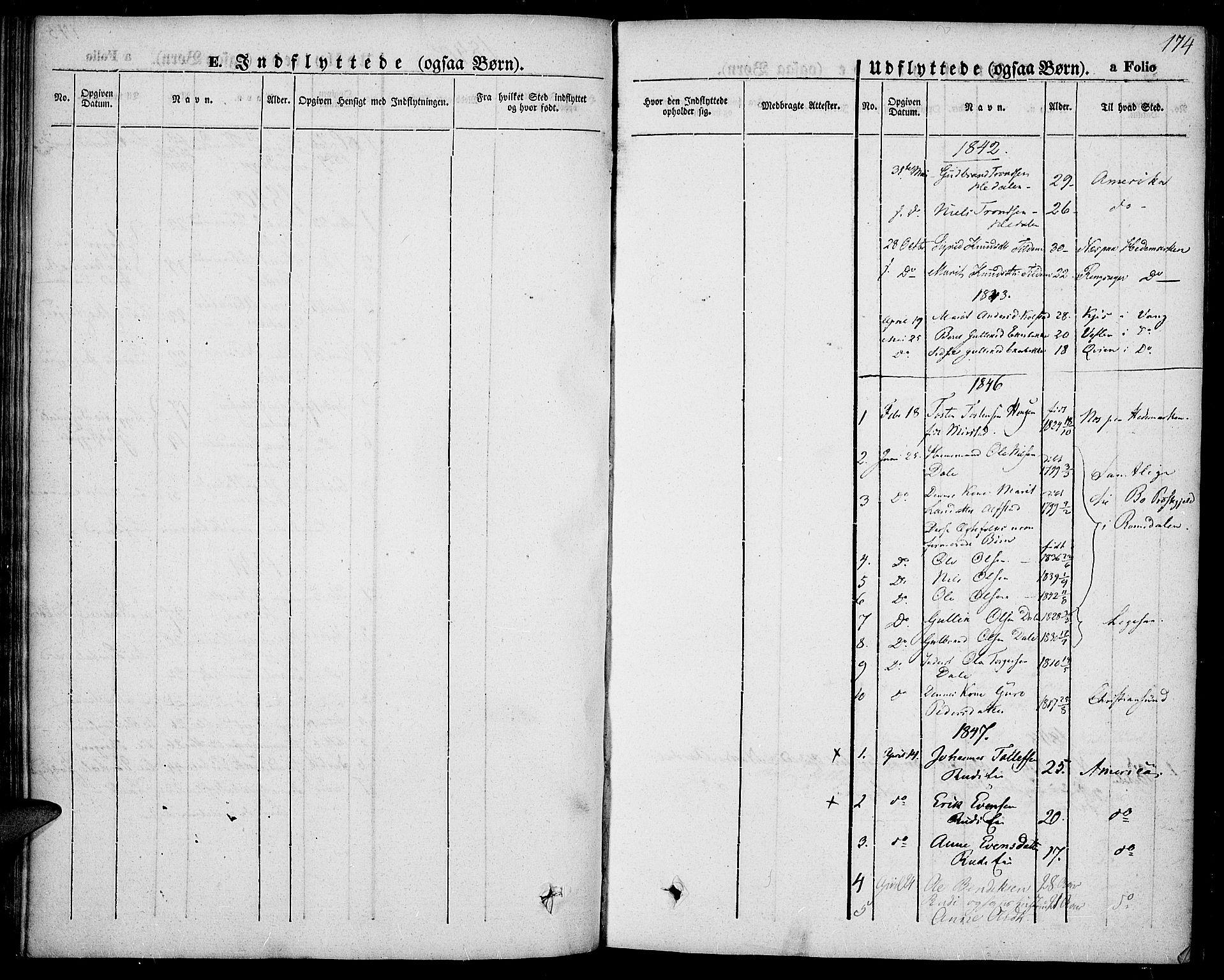 SAH, Slidre prestekontor, Ministerialbok nr. 4, 1831-1848, s. 174