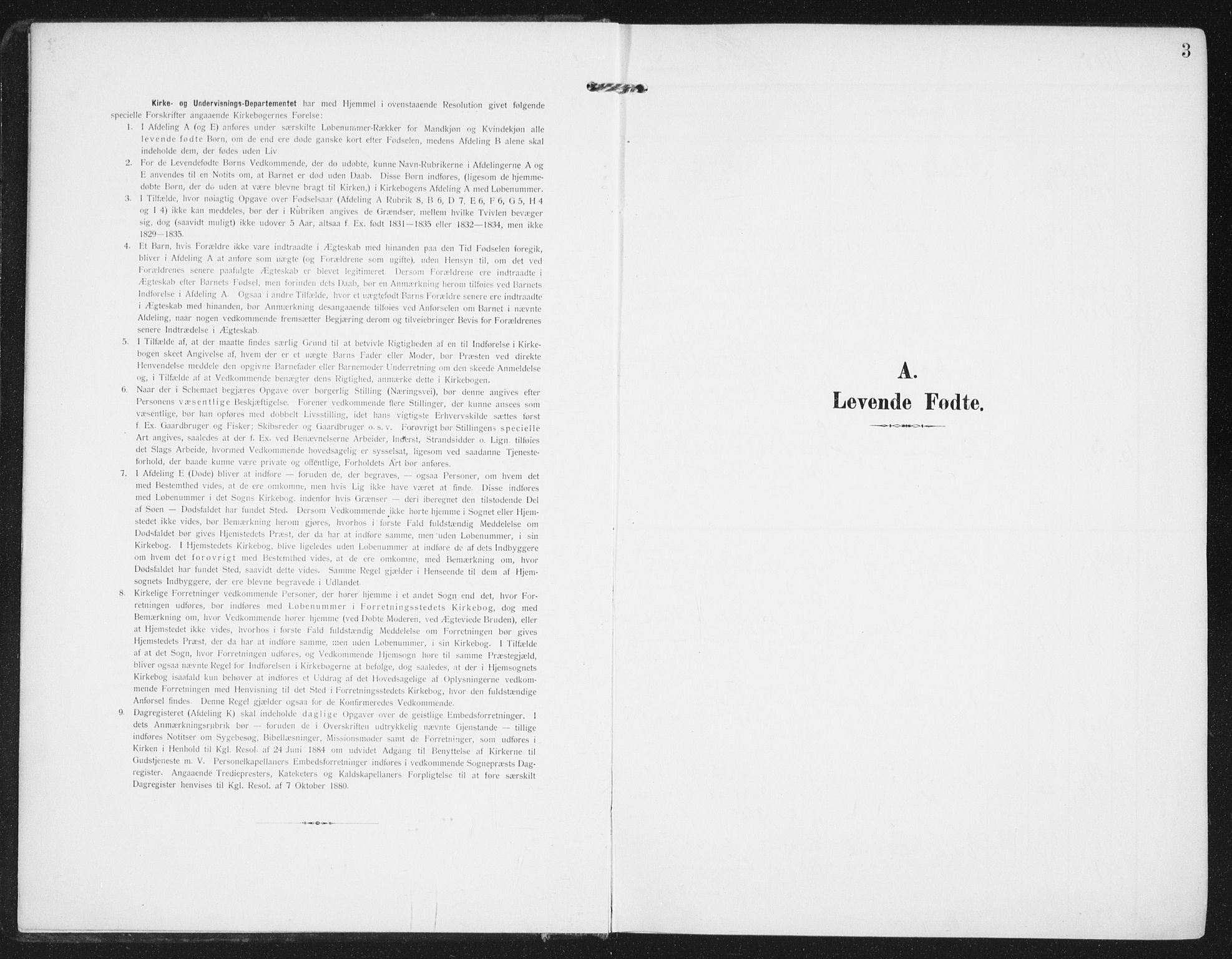 SAT, Ministerialprotokoller, klokkerbøker og fødselsregistre - Nordland, 885/L1206: Ministerialbok nr. 885A07, 1905-1915, s. 3