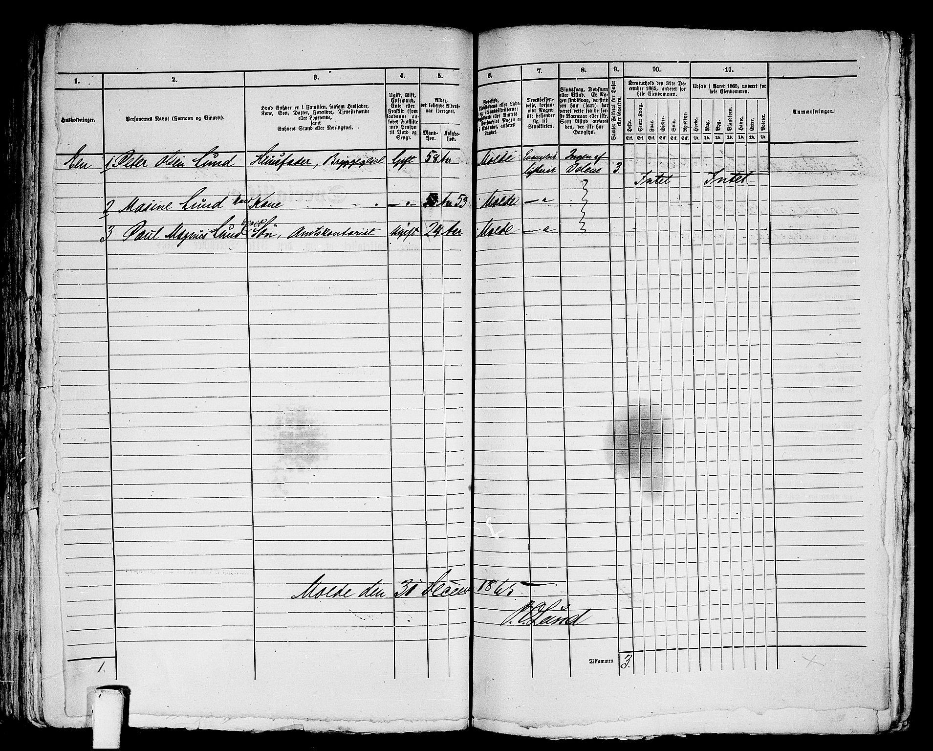 RA, Folketelling 1865 for 1502P Molde prestegjeld, 1865, s. 131