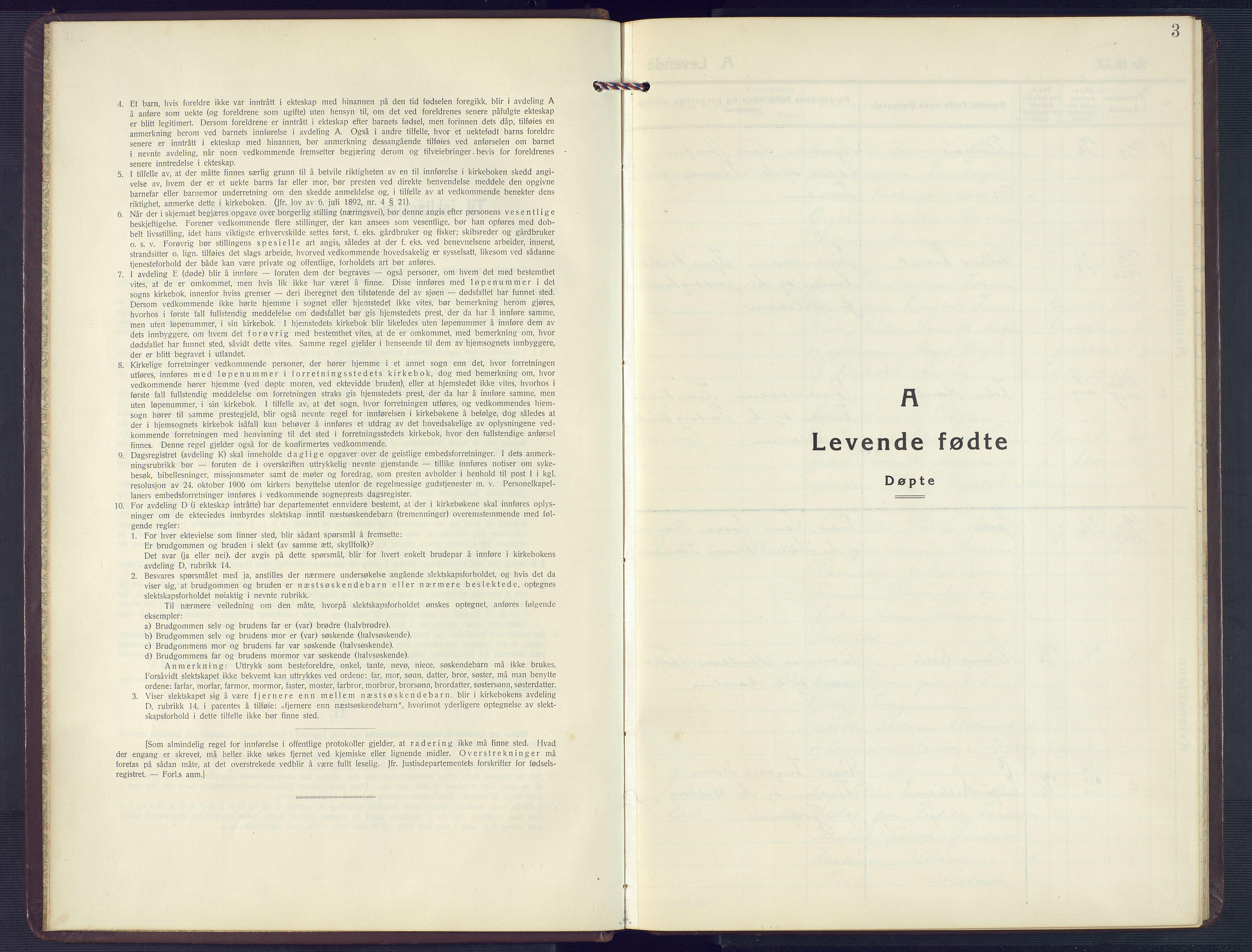 SAK, Høvåg sokneprestkontor, F/Fb/L0006: Klokkerbok nr. B 6, 1928-1956, s. 3