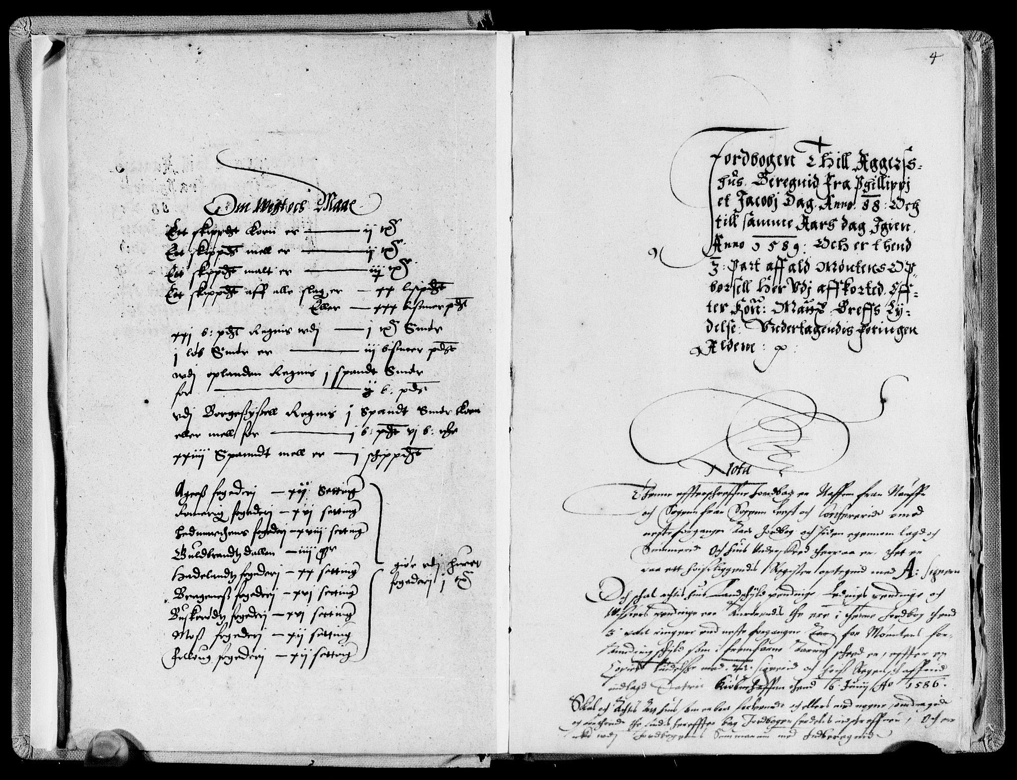 RA, Rentekammeret inntil 1814, Reviderte regnskaper, Lensregnskaper, R/Rb/Rba/L0004: Akershus len, 1588-1589