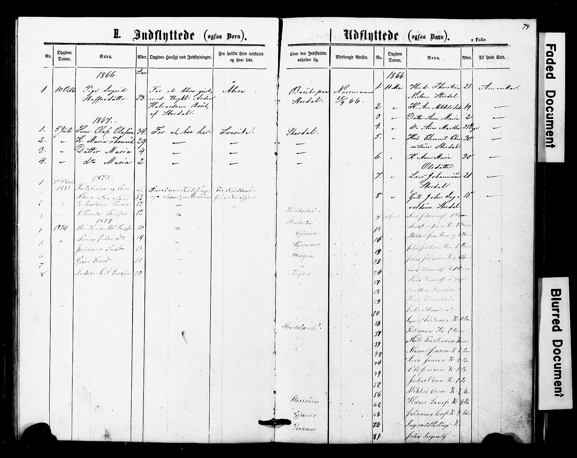 SAT, Ministerialprotokoller, klokkerbøker og fødselsregistre - Nord-Trøndelag, 707/L0052: Klokkerbok nr. 707C01, 1864-1897, s. 74