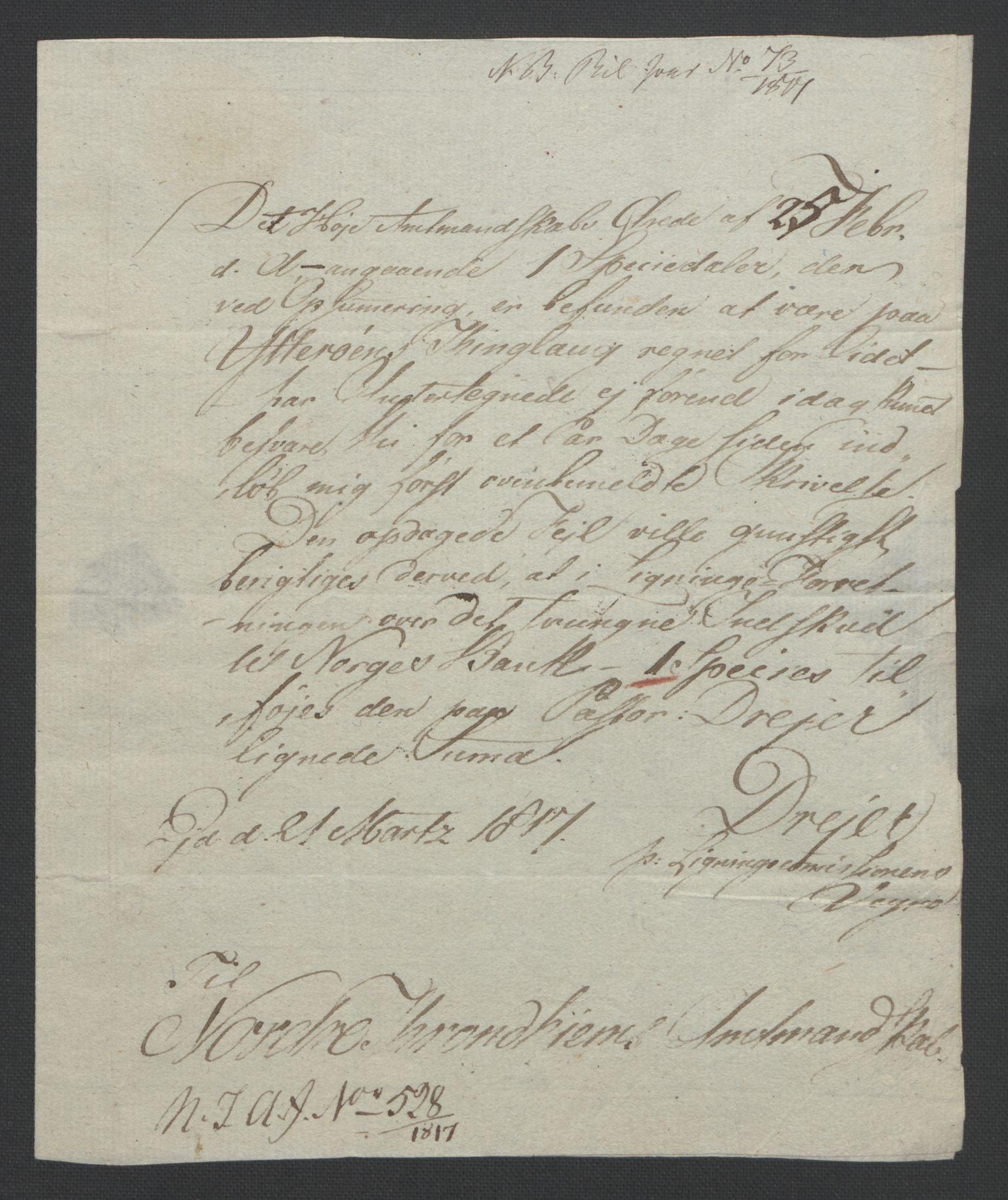 NOBA, Norges Bank/Sølvskatten 1816*, 1816-1822, s. 97