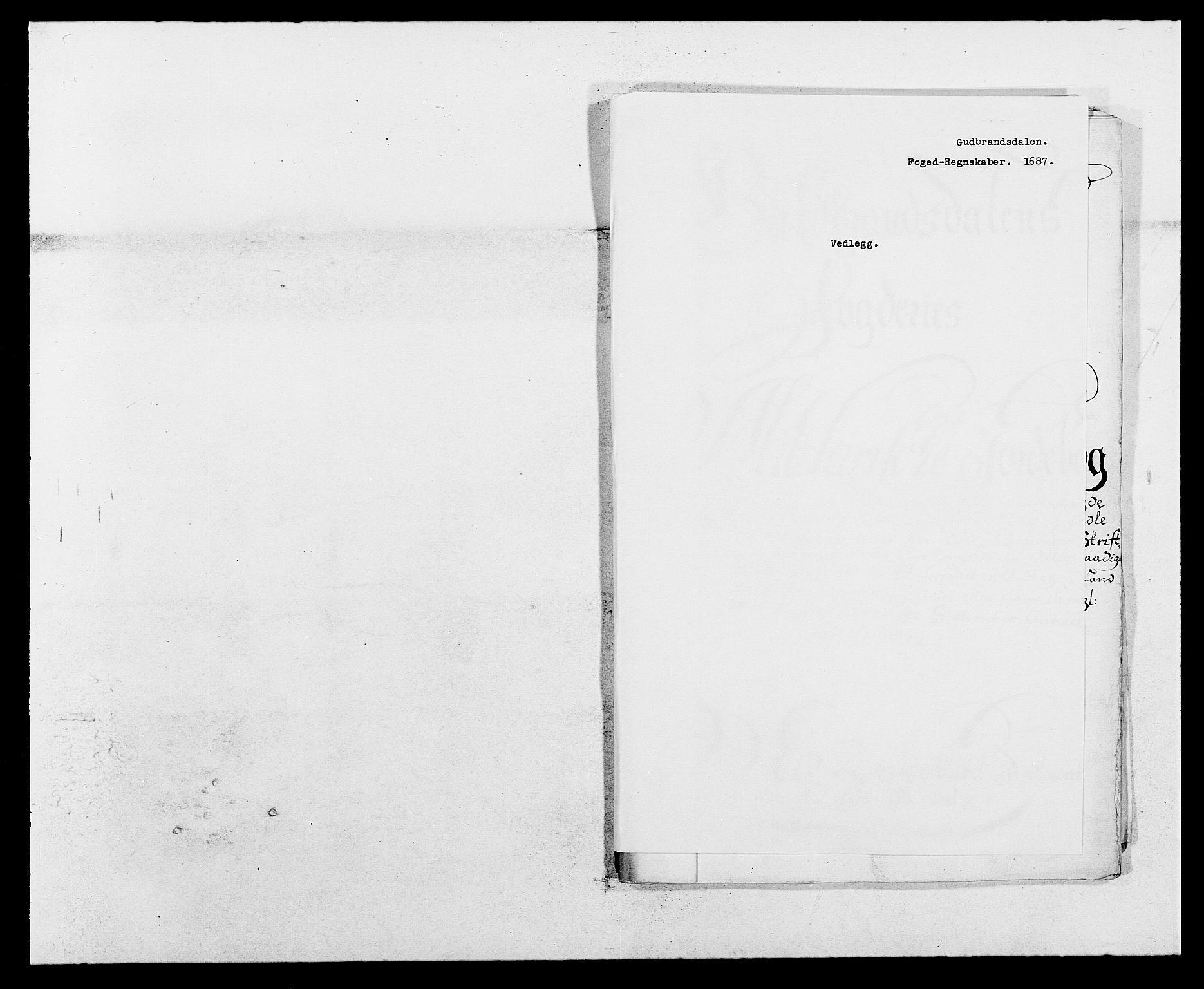 RA, Rentekammeret inntil 1814, Reviderte regnskaper, Fogderegnskap, R17/L1162: Fogderegnskap Gudbrandsdal, 1682-1689, s. 303