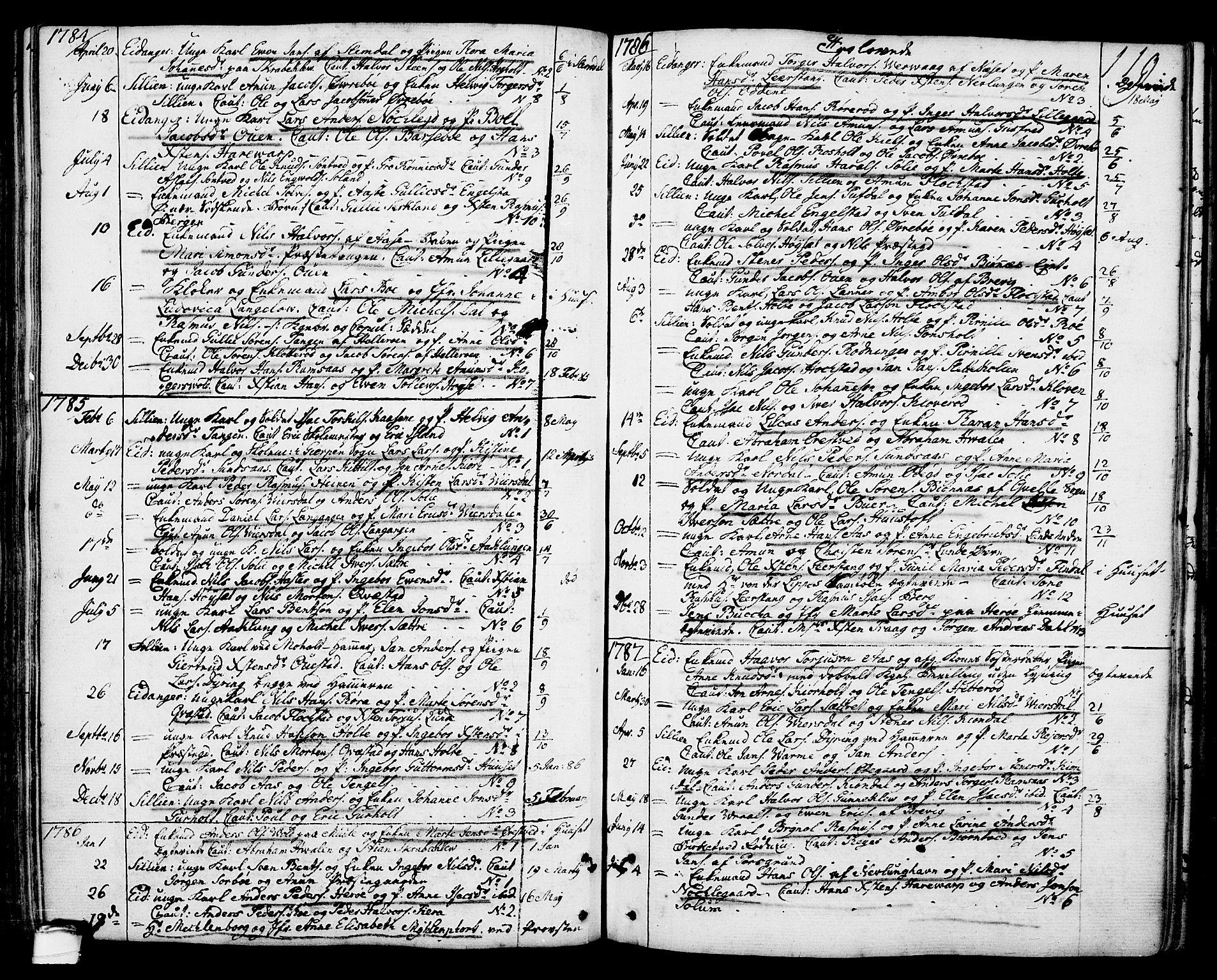 SAKO, Eidanger kirkebøker, F/Fa/L0006: Ministerialbok nr. 6, 1764-1814, s. 119