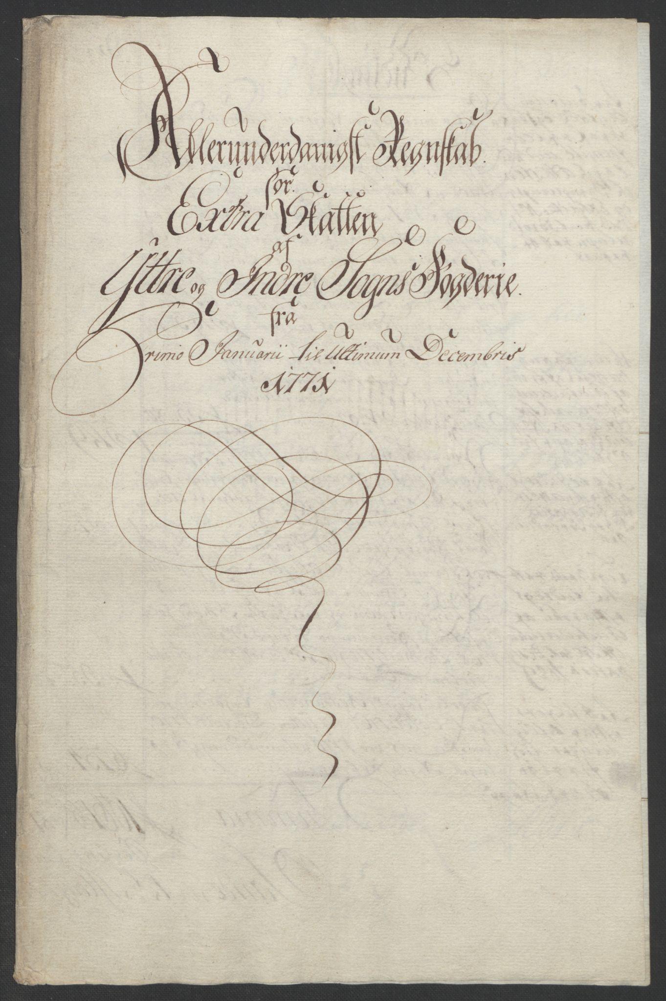 RA, Rentekammeret inntil 1814, Realistisk ordnet avdeling, Ol/L0018: [Gg 10]: Ekstraskatten, 23.09.1762. Sogn, 1762-1772, s. 326