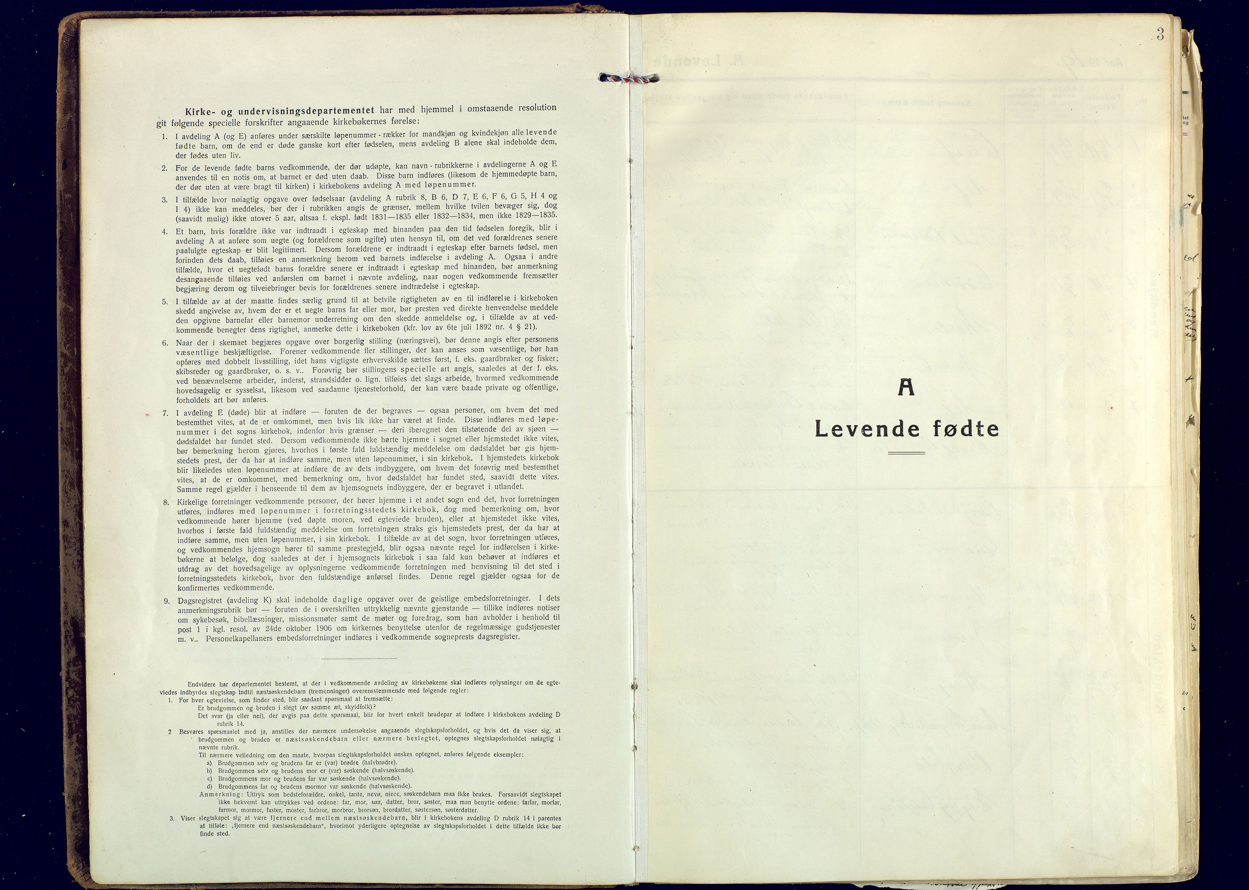 SATØ, Målselv sokneprestembete, Ministerialbok nr. 14, 1919-1932, s. 3