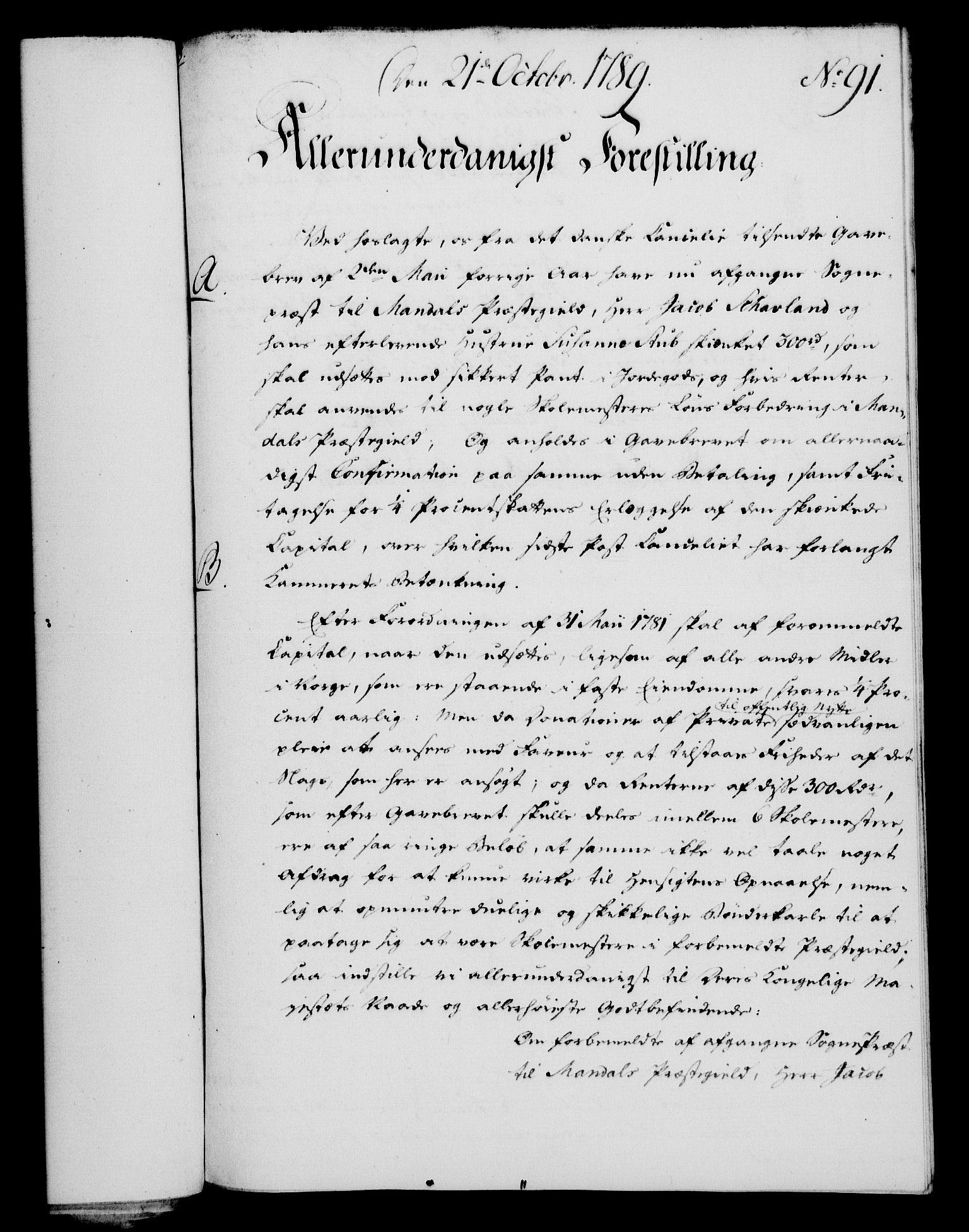 RA, Rentekammeret, Kammerkanselliet, G/Gf/Gfa/L0071: Norsk relasjons- og resolusjonsprotokoll (merket RK 52.71), 1789, s. 485