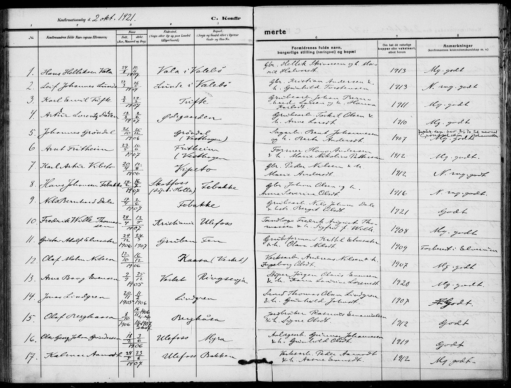 SAKO, Holla kirkebøker, F/Fa/L0012: Ministerialbok nr. 12, 1907-1923, s. 159