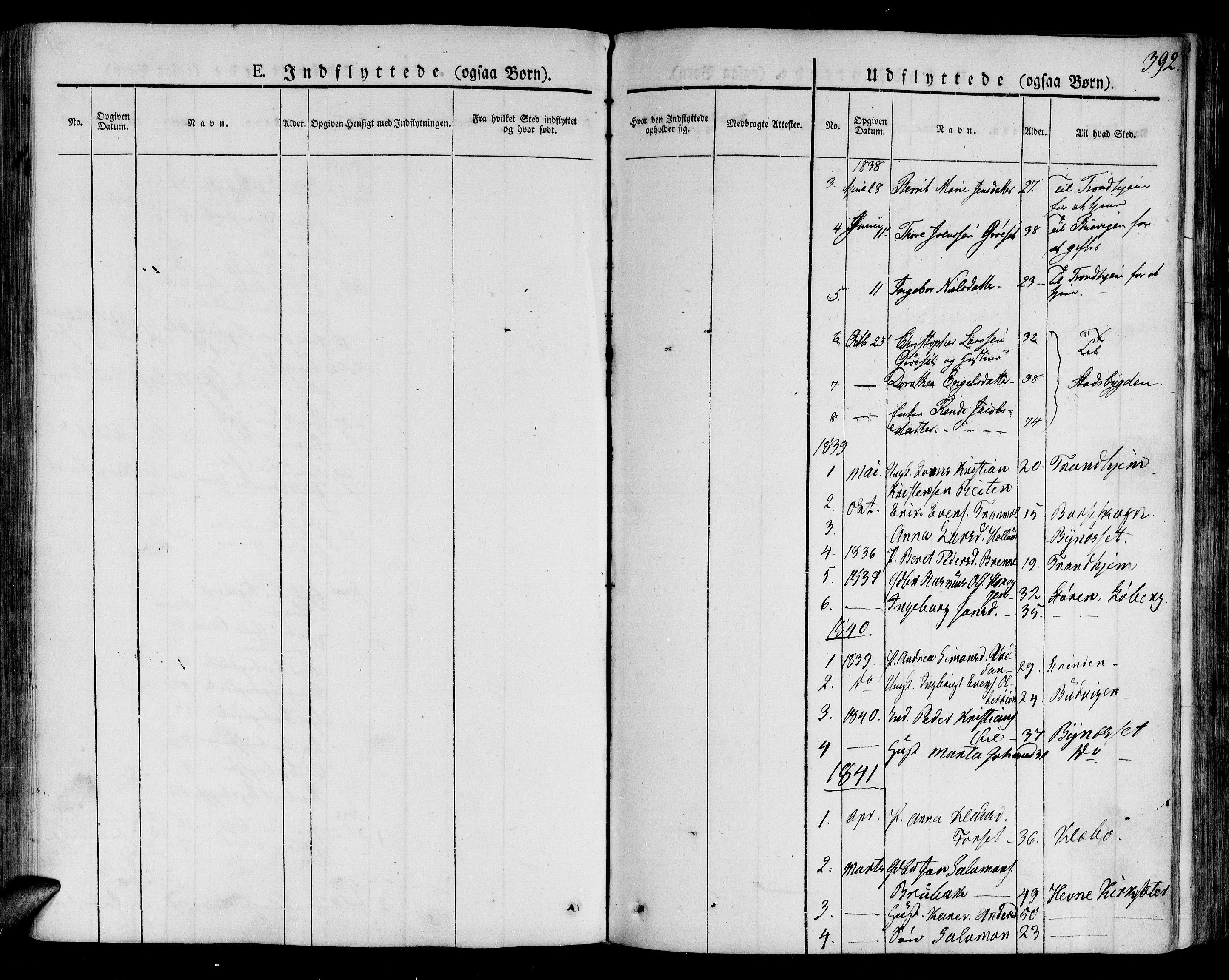 SAT, Ministerialprotokoller, klokkerbøker og fødselsregistre - Sør-Trøndelag, 691/L1070: Ministerialbok nr. 691A05 /1, 1826-1841, s. 392
