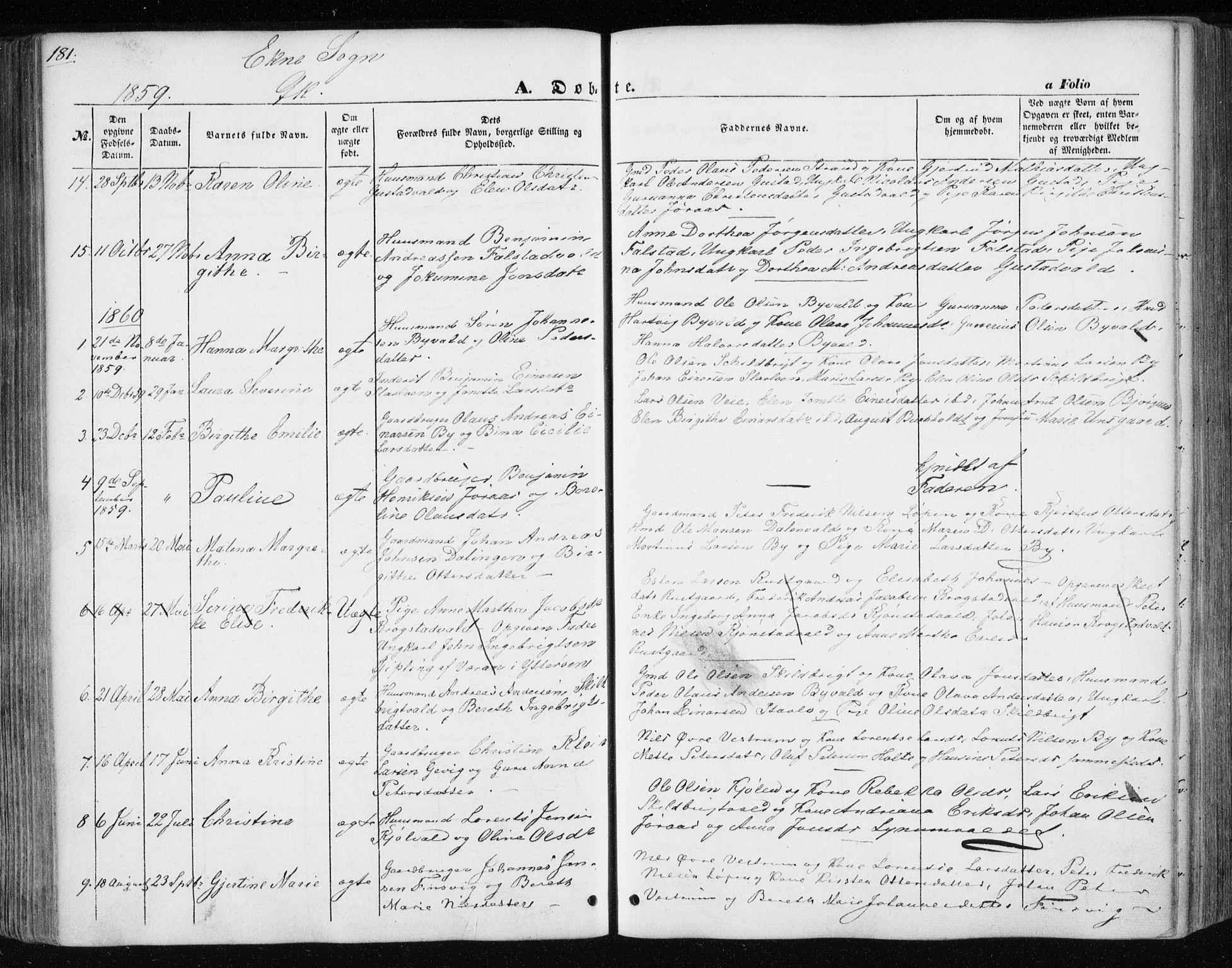 SAT, Ministerialprotokoller, klokkerbøker og fødselsregistre - Nord-Trøndelag, 717/L0154: Ministerialbok nr. 717A07 /3, 1850-1862, s. 181