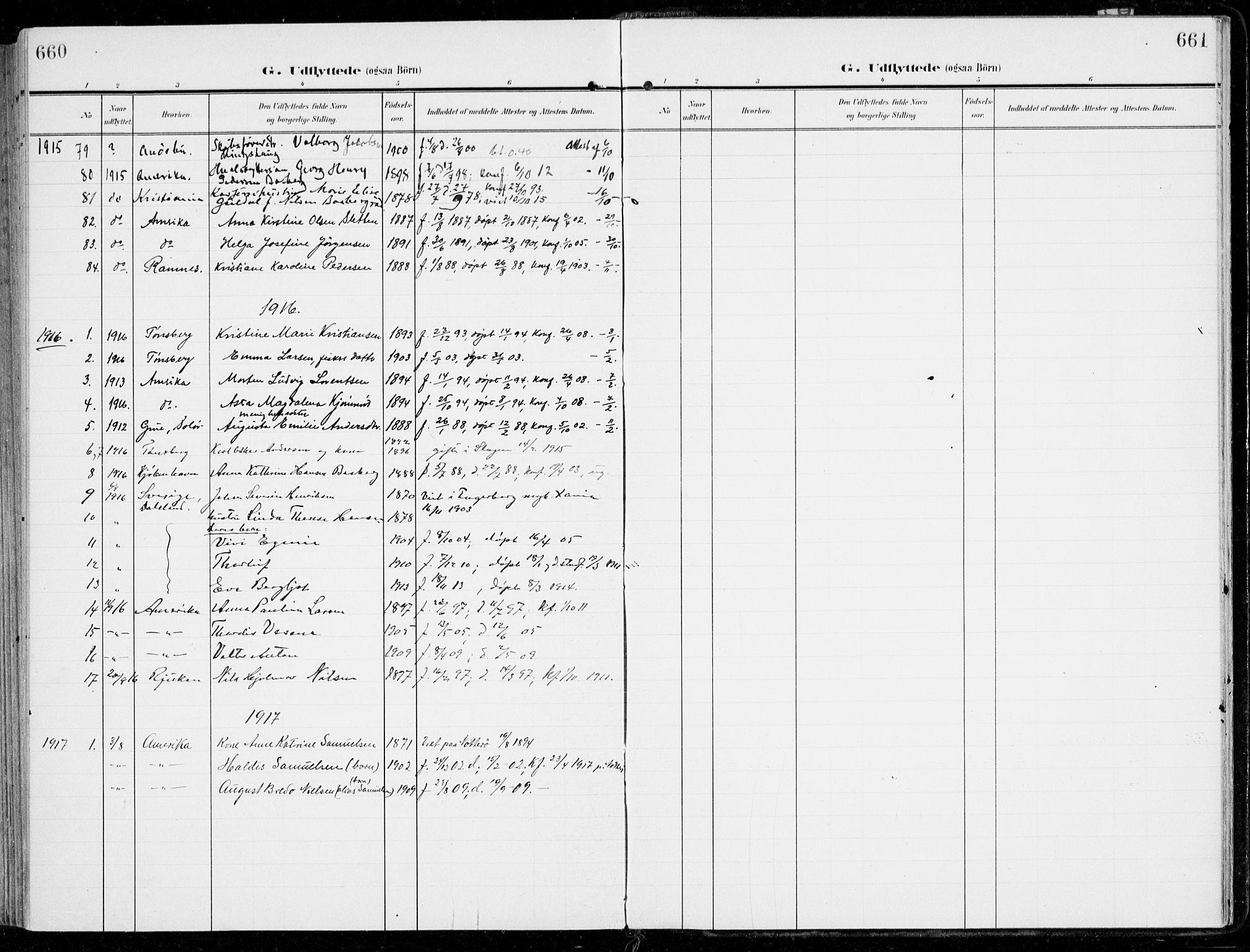 SAKO, Sem kirkebøker, F/Fb/L0006: Ministerialbok nr. II 6, 1905-1918, s. 660-661