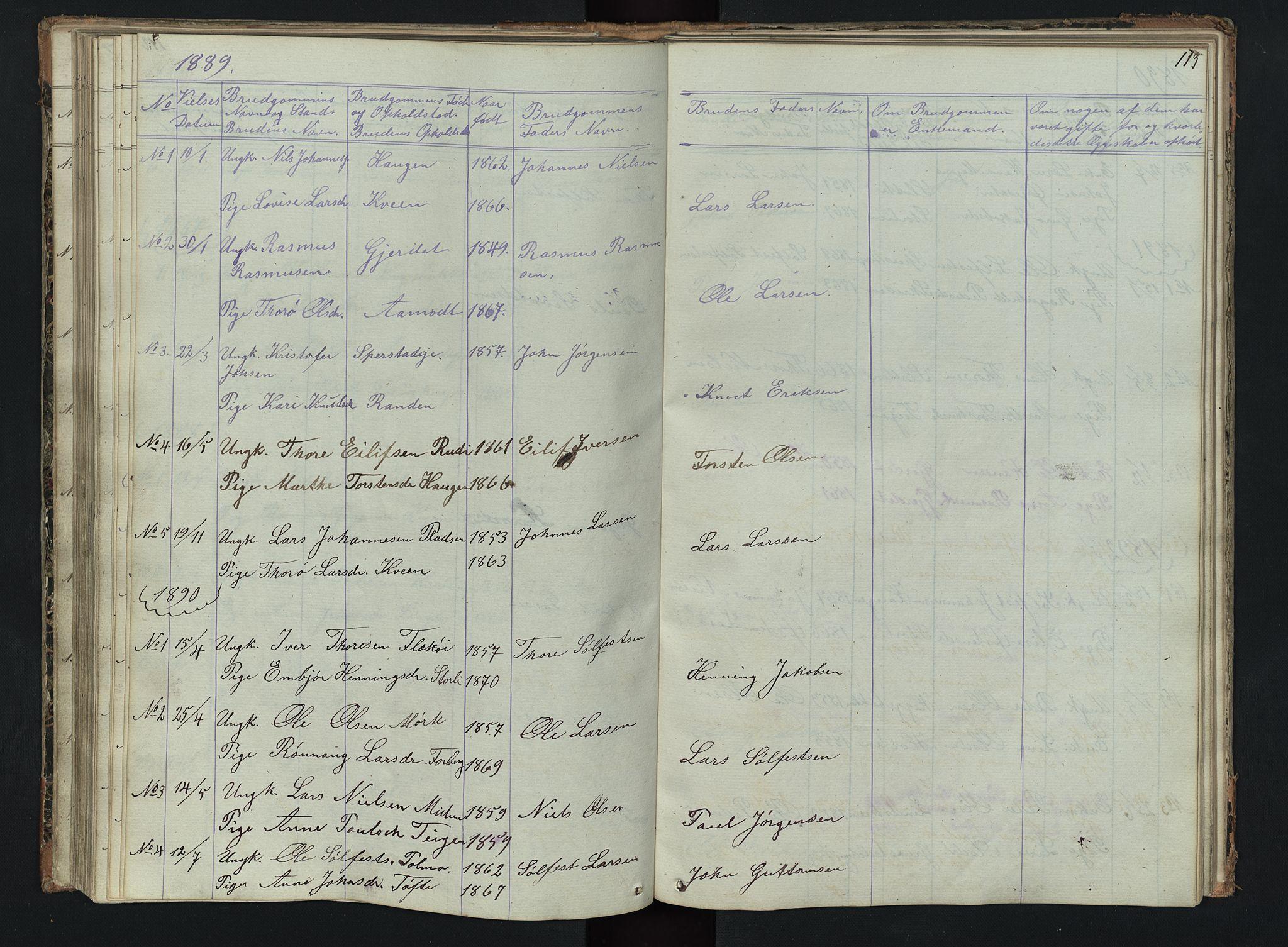 SAH, Skjåk prestekontor, Klokkerbok nr. 2, 1867-1894, s. 113