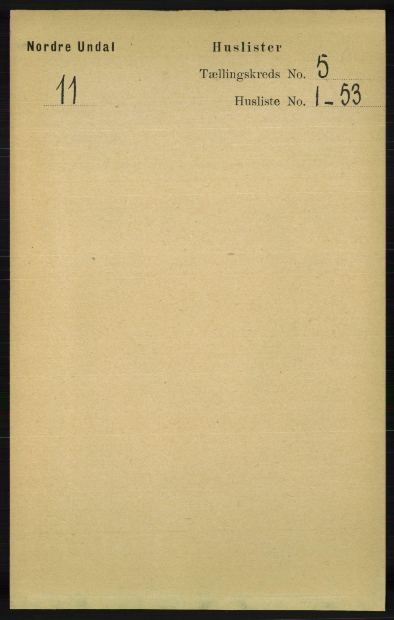 RA, Folketelling 1891 for 1028 Nord-Audnedal herred, 1891, s. 1171