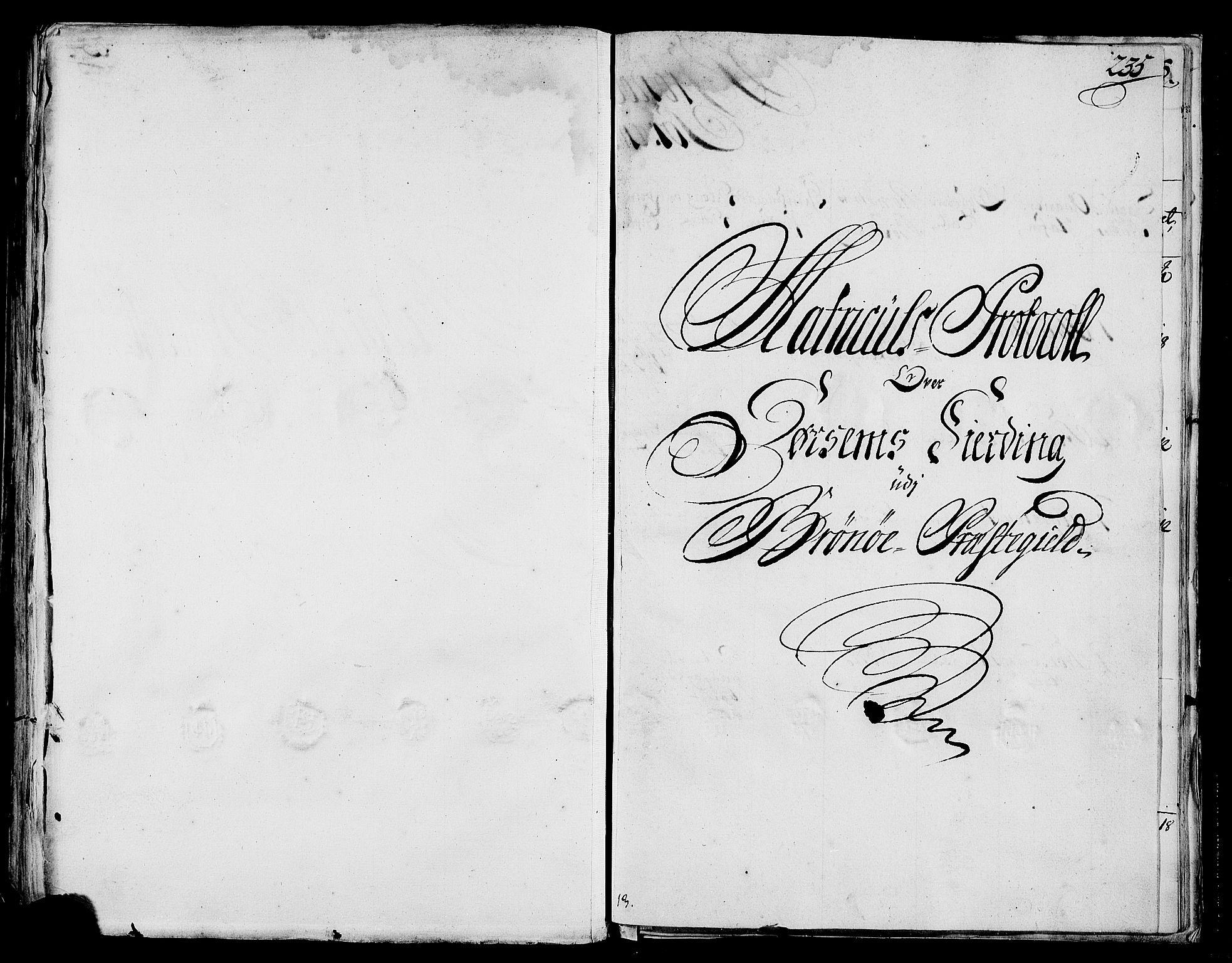 RA, Rentekammeret inntil 1814, Realistisk ordnet avdeling, N/Nb/Nbf/L0170: Helgeland eksaminasjonsprotokoll, 1723, s. 234b-235a