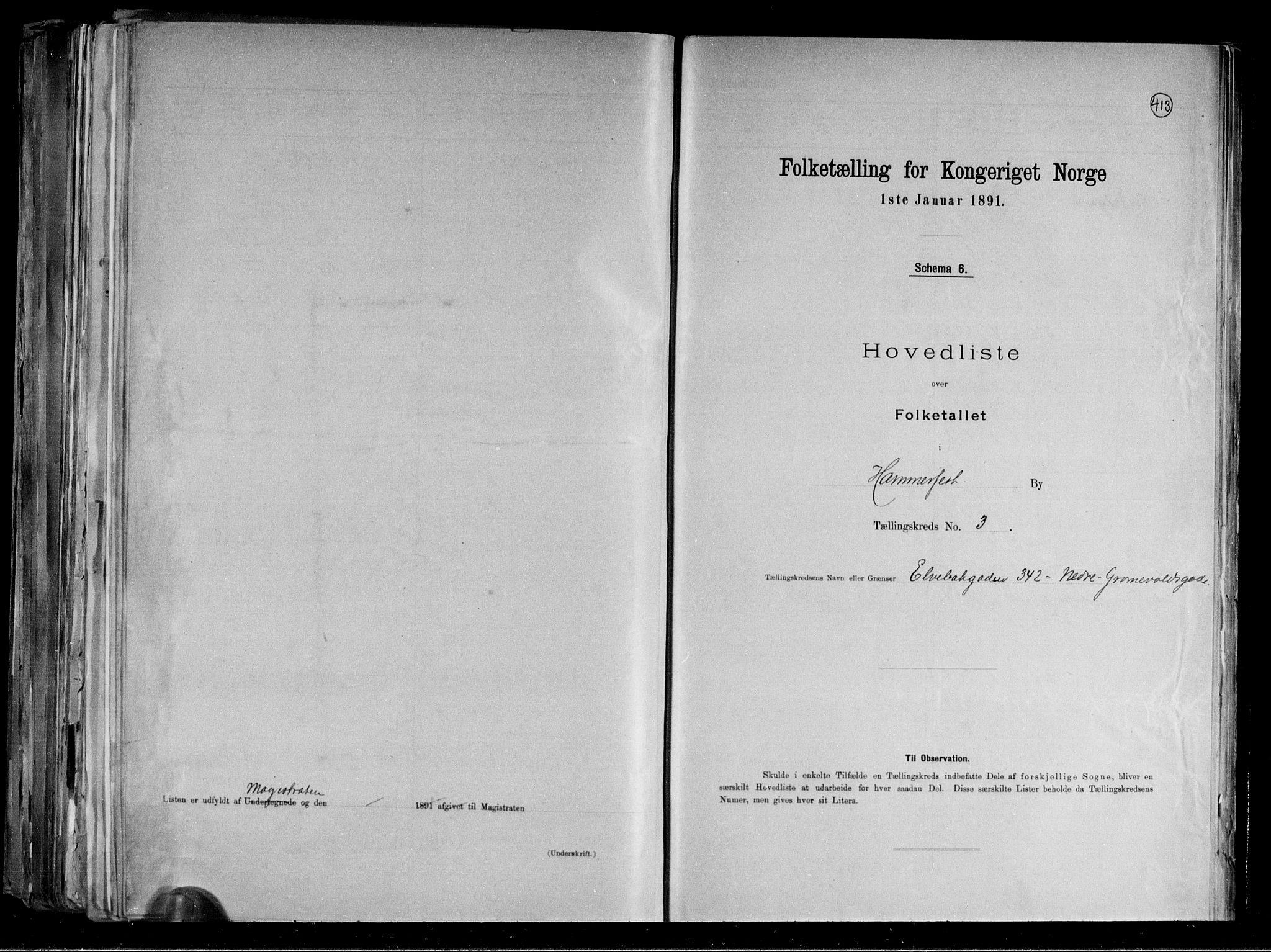 RA, Folketelling 1891 for 2001 Hammerfest kjøpstad, 1891, s. 9