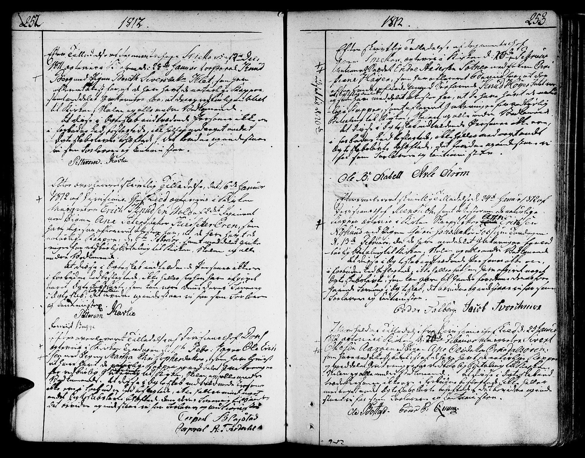 SAT, Ministerialprotokoller, klokkerbøker og fødselsregistre - Sør-Trøndelag, 602/L0105: Ministerialbok nr. 602A03, 1774-1814, s. 252-253