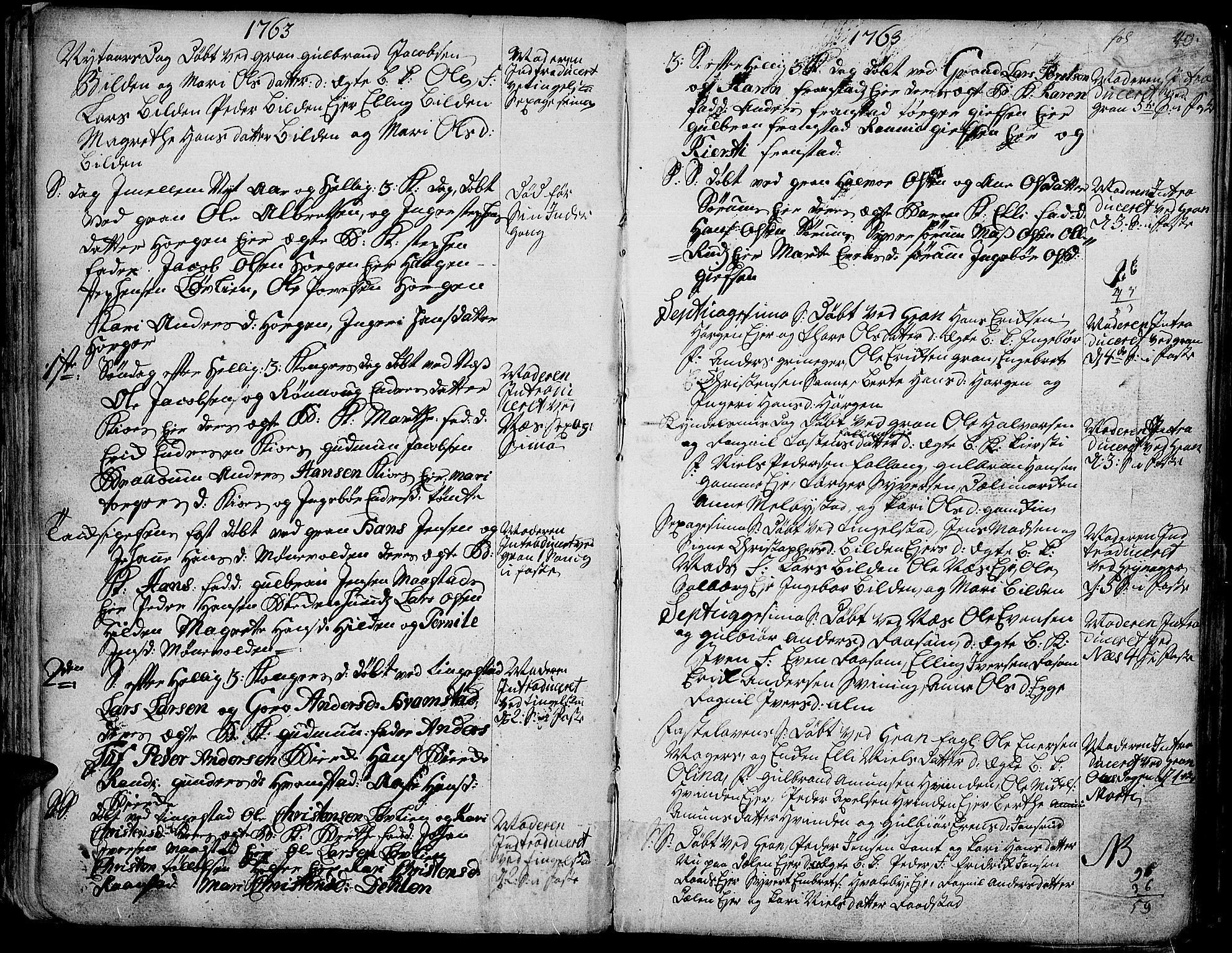 SAH, Gran prestekontor, Ministerialbok nr. 4, 1759-1775, s. 40