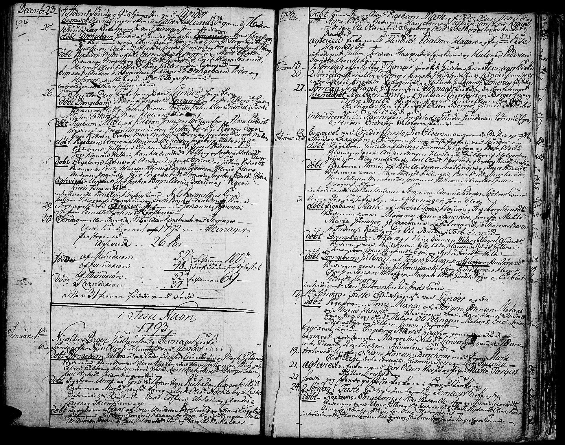 SAH, Jevnaker prestekontor, Ministerialbok nr. 3, 1752-1799, s. 394-395