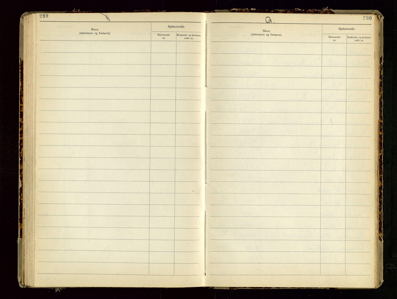 SAST, Haugesund sjømannskontor, F/Fb/Fba/L0007: Navneregister med henvisning til rullenummer (etternavn) Haugesund krets , 1944, s. 290