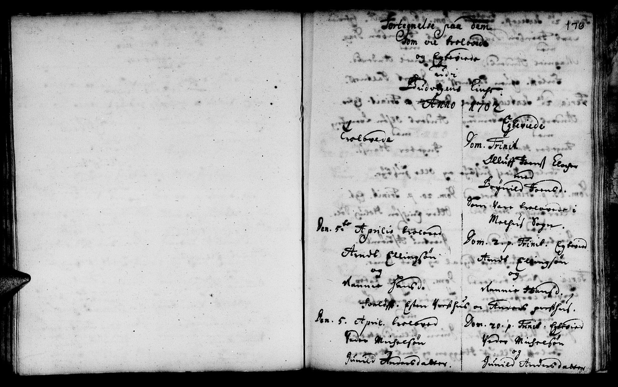 SAT, Ministerialprotokoller, klokkerbøker og fødselsregistre - Sør-Trøndelag, 666/L0783: Ministerialbok nr. 666A01, 1702-1753, s. 176
