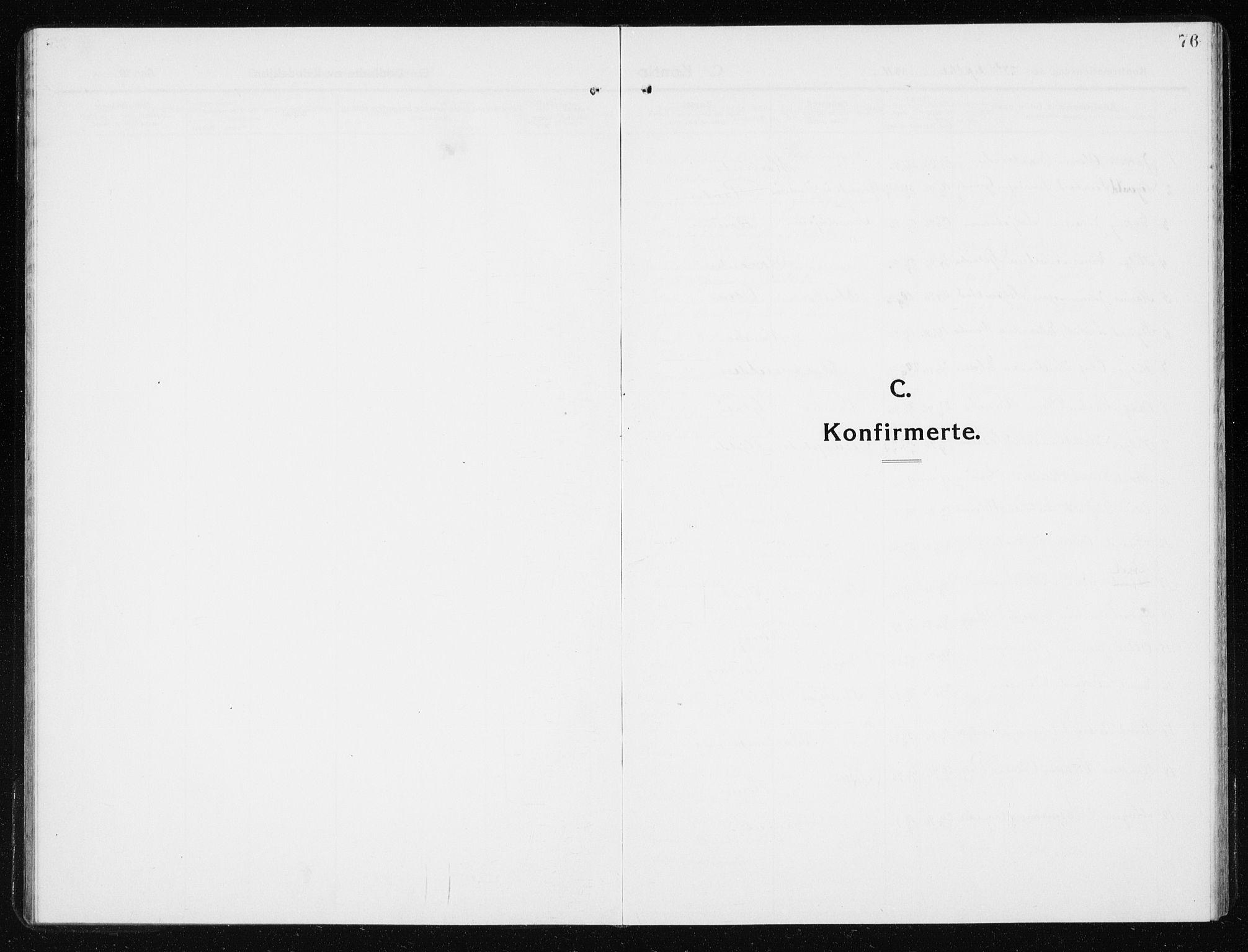 SAT, Ministerialprotokoller, klokkerbøker og fødselsregistre - Nord-Trøndelag, 741/L0402: Klokkerbok nr. 741C03, 1911-1926, s. 76