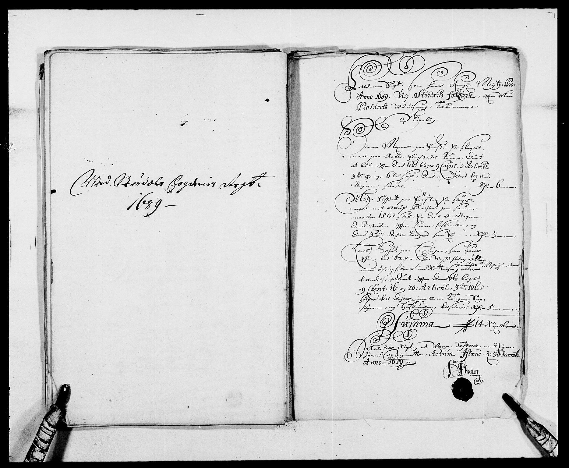 RA, Rentekammeret inntil 1814, Reviderte regnskaper, Fogderegnskap, R62/L4183: Fogderegnskap Stjørdal og Verdal, 1687-1689, s. 382