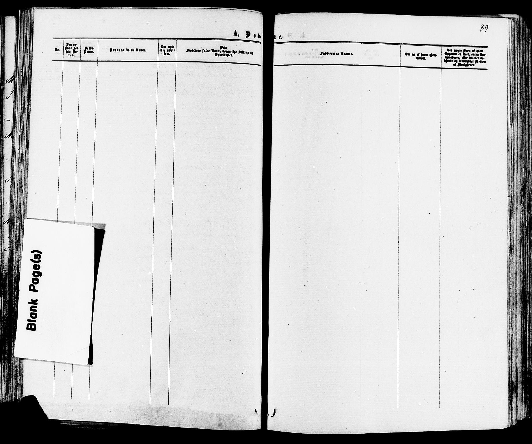 SAKO, Mo kirkebøker, F/Fa/L0006: Ministerialbok nr. I 6, 1865-1885, s. 89