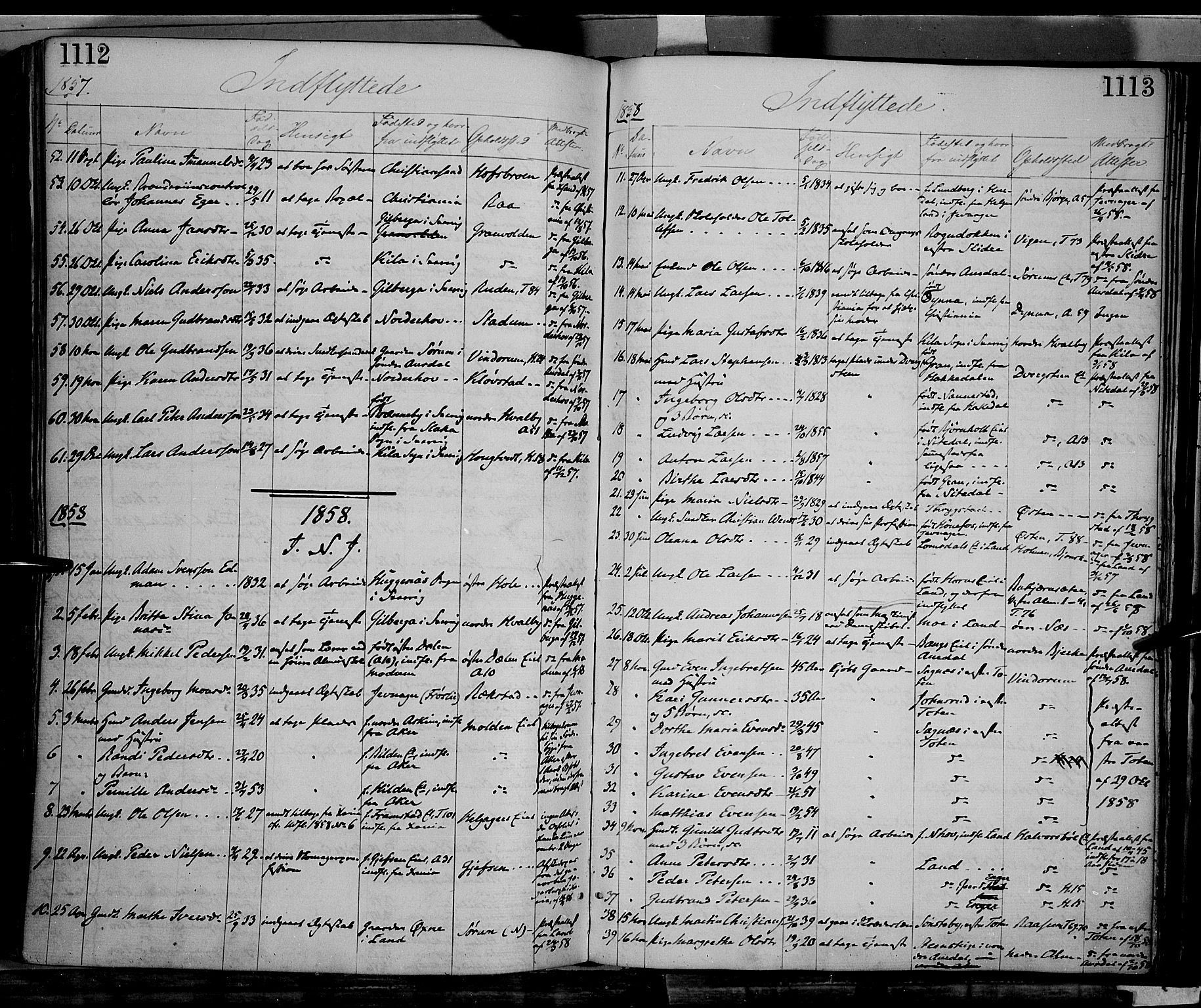 SAH, Gran prestekontor, Ministerialbok nr. 12, 1856-1874, s. 1112-1113
