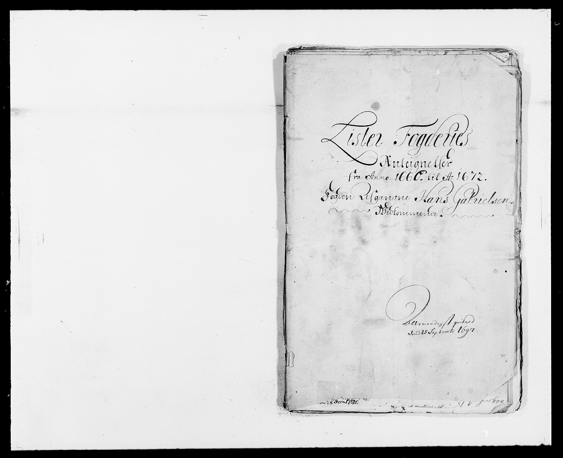 RA, Rentekammeret inntil 1814, Reviderte regnskaper, Fogderegnskap, R41/L2526: Fogderegnskap Lista, 1672, s. 183