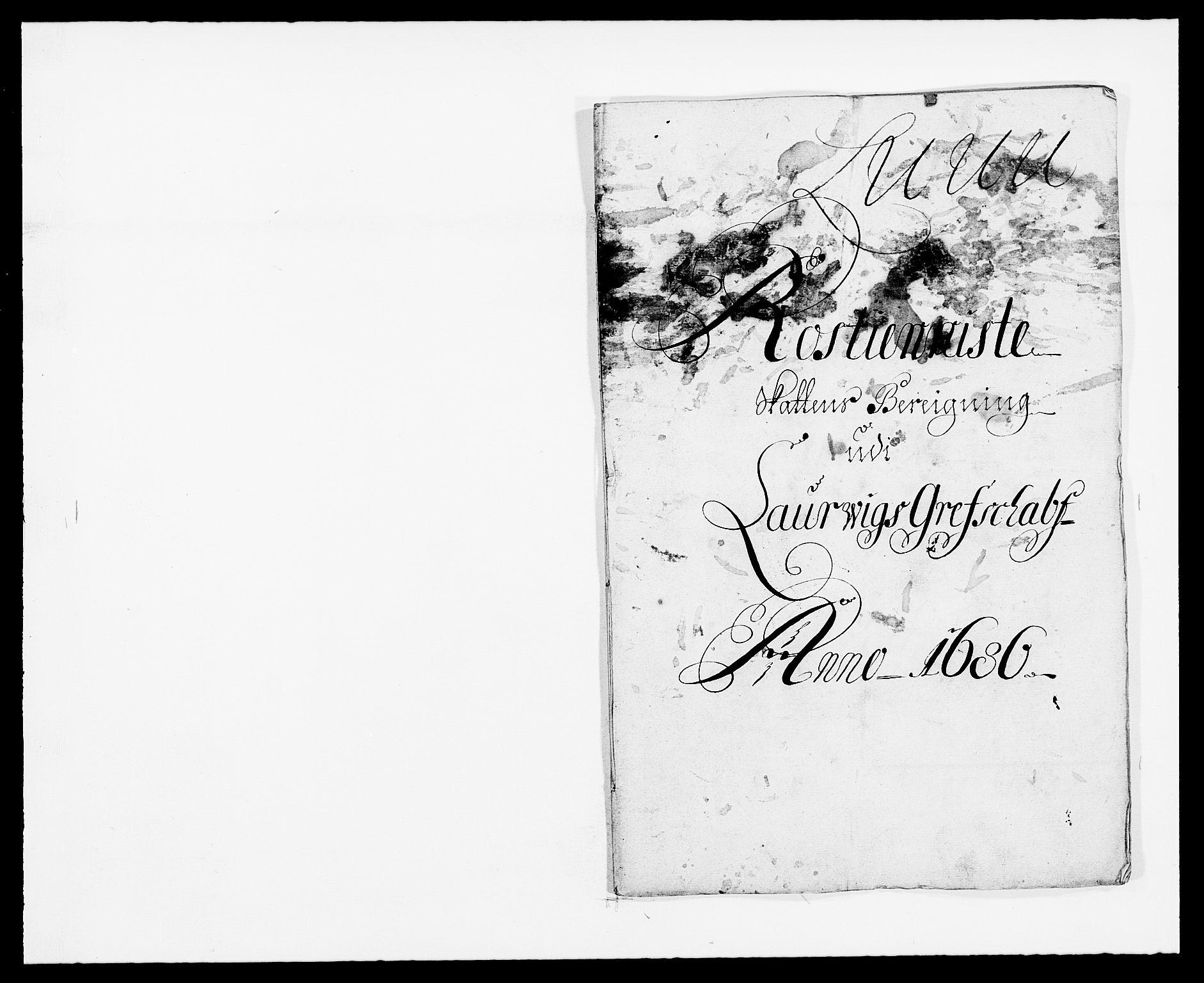 RA, Rentekammeret inntil 1814, Reviderte regnskaper, Fogderegnskap, R33/L1970: Fogderegnskap Larvik grevskap, 1675-1687, s. 258