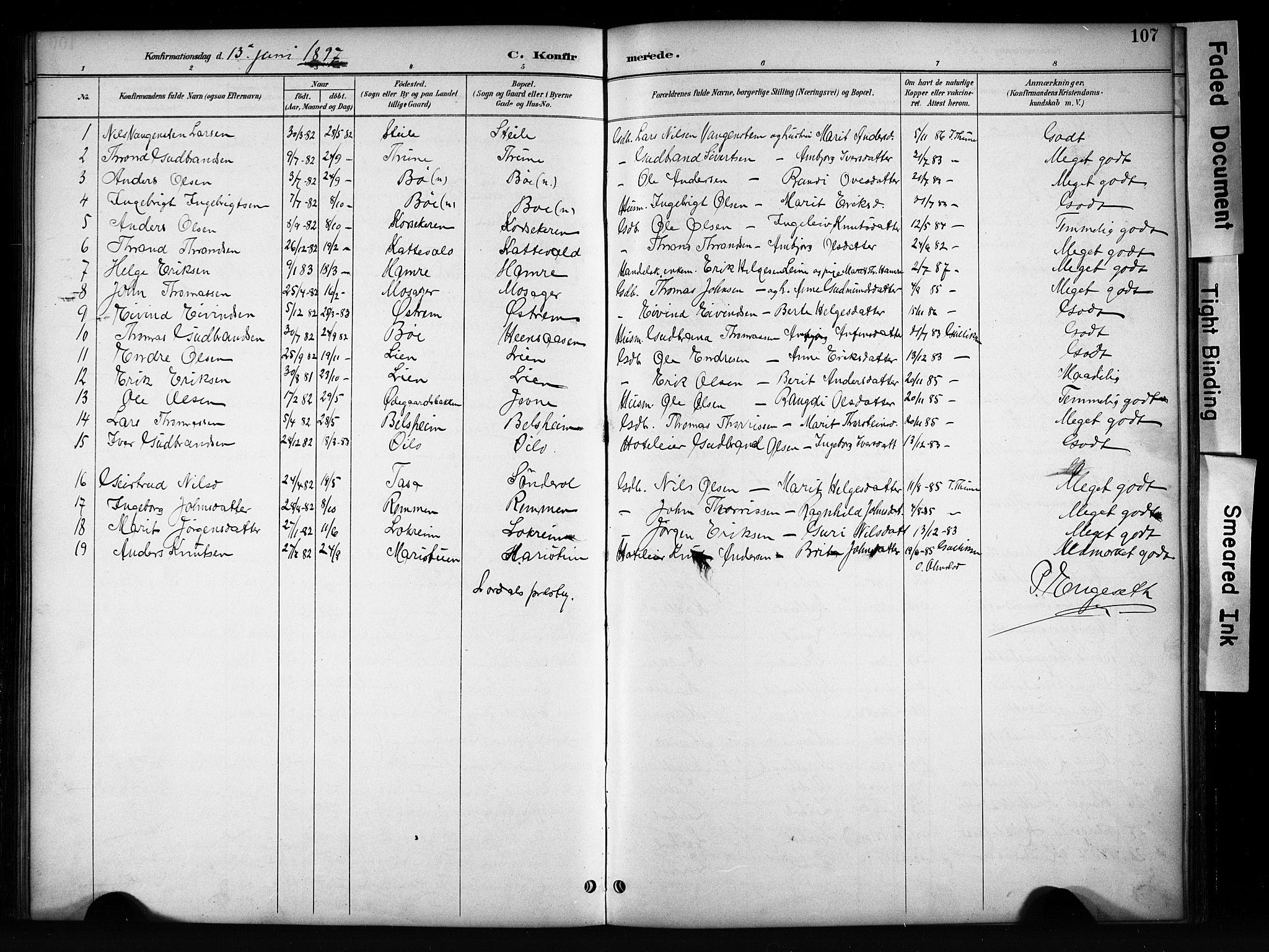 SAH, Vang prestekontor, Valdres, Klokkerbok nr. 6, 1893-1918, s. 107