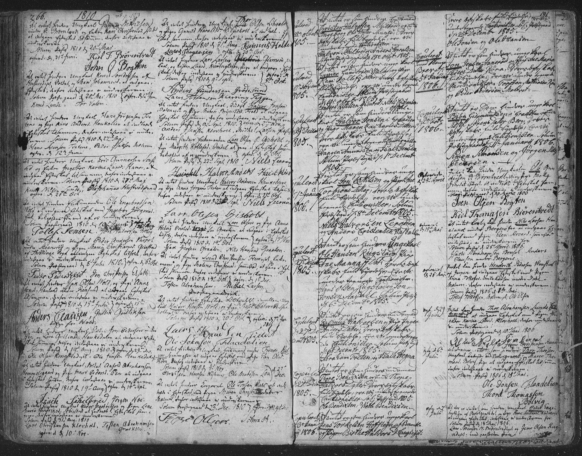SAKO, Solum kirkebøker, F/Fa/L0003: Ministerialbok nr. I 3, 1761-1814, s. 266-191