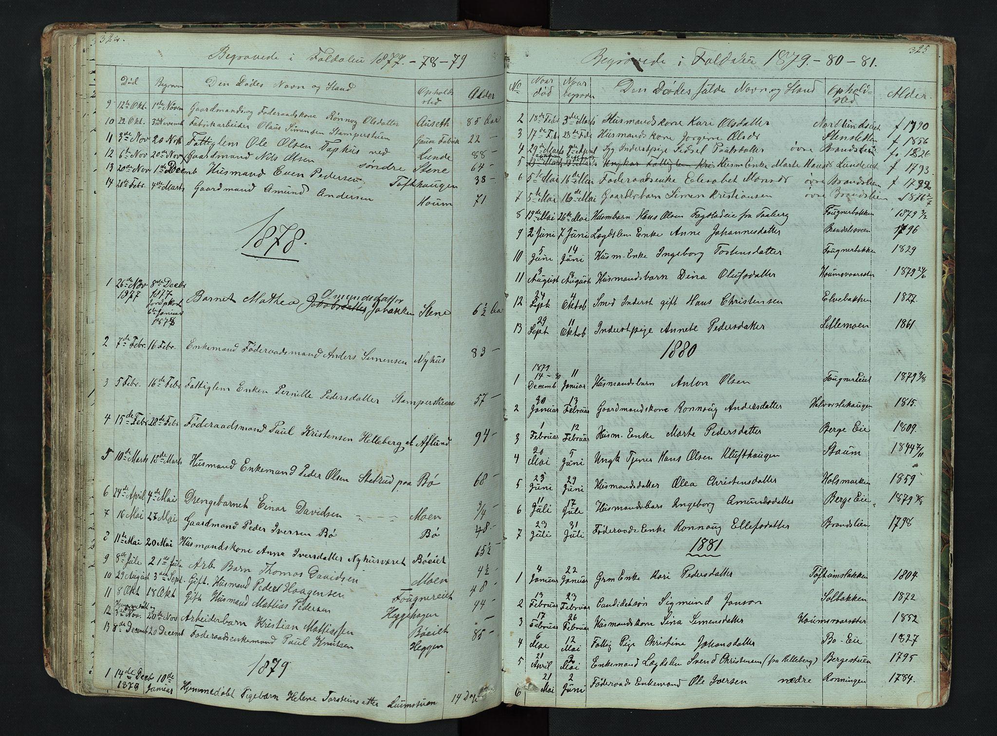 SAH, Gausdal prestekontor, Klokkerbok nr. 6, 1846-1893, s. 324-325