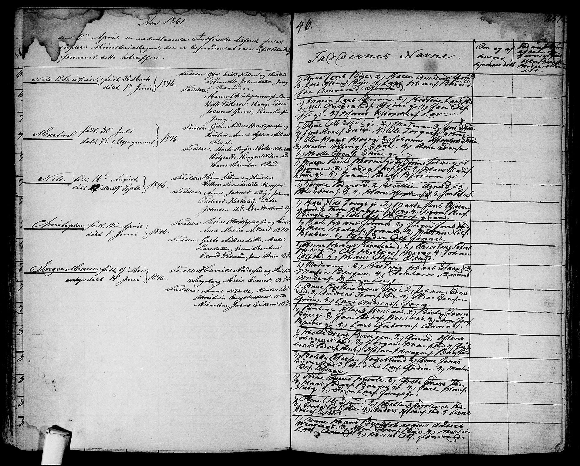 SAO, Asker prestekontor Kirkebøker, F/Fa/L0007: Ministerialbok nr. I 7, 1825-1864, s. 257
