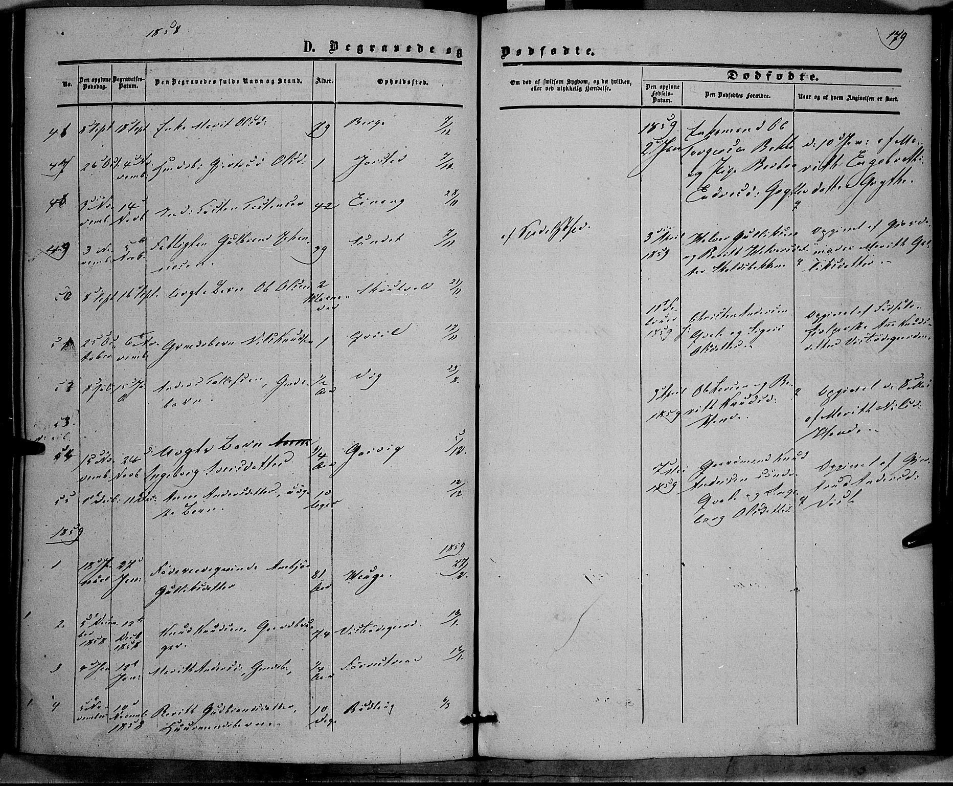 SAH, Vestre Slidre prestekontor, Ministerialbok nr. 2, 1856-1864, s. 179