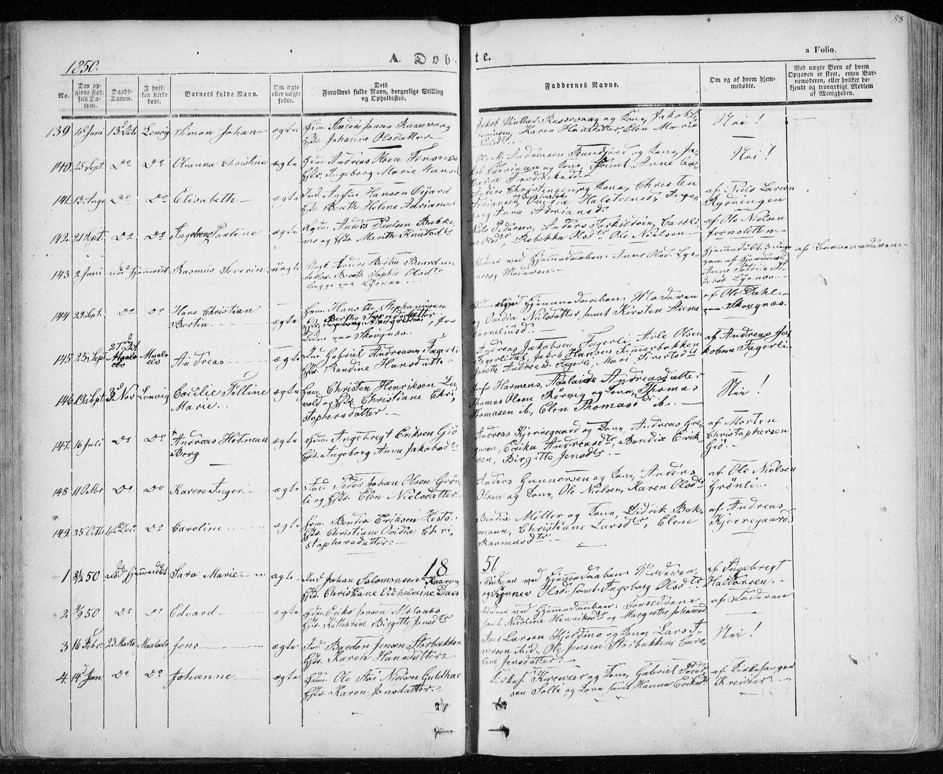 SATØ, Lenvik sokneprestembete, H/Ha: Ministerialbok nr. 6, 1845-1854, s. 88