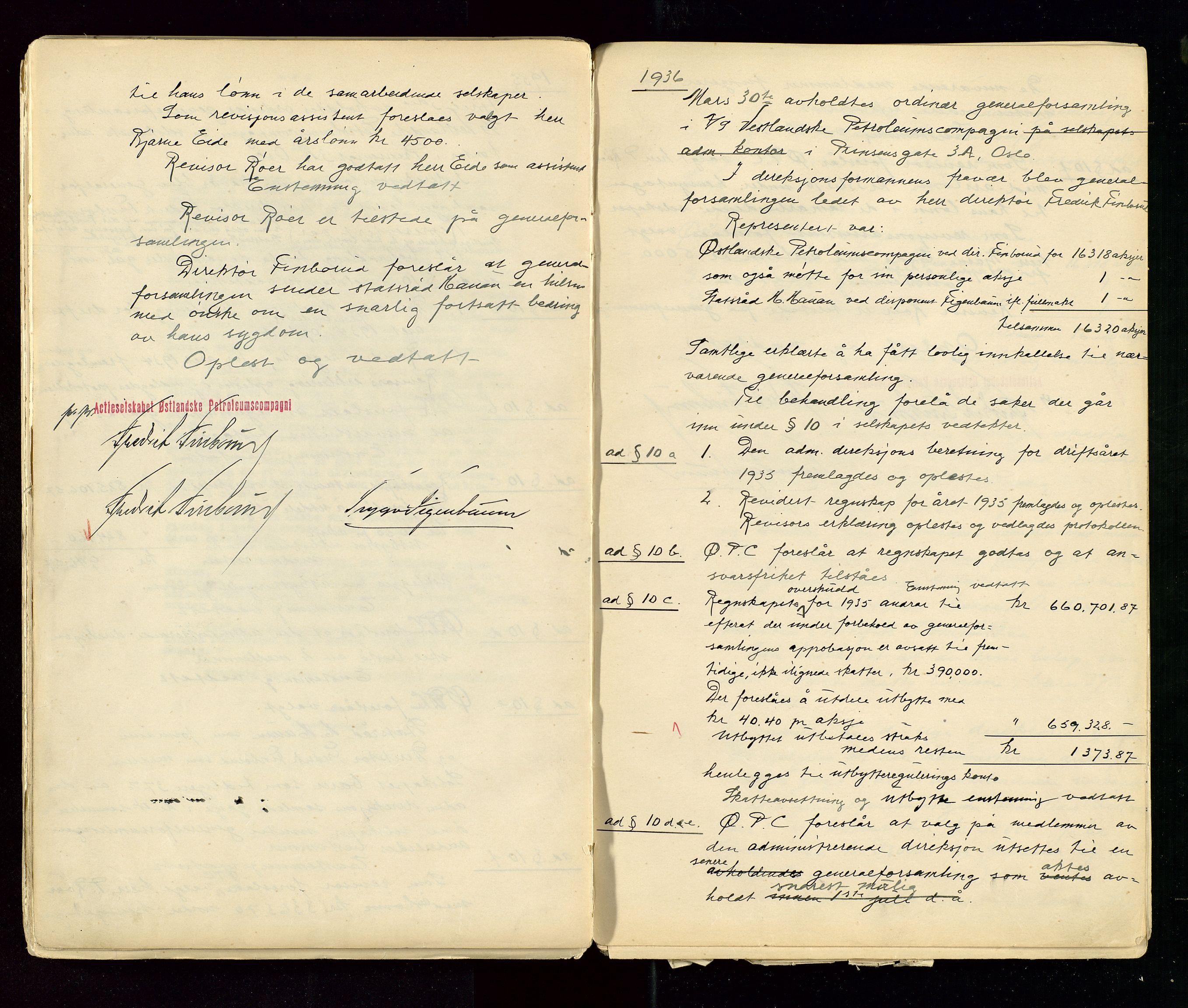 SAST, PA 1533 - A/S Vestlandske Petroleumscompani, A/Aa/L0001: Generalforsamlinger og styreprotokoller, 1890-1953, s. 110