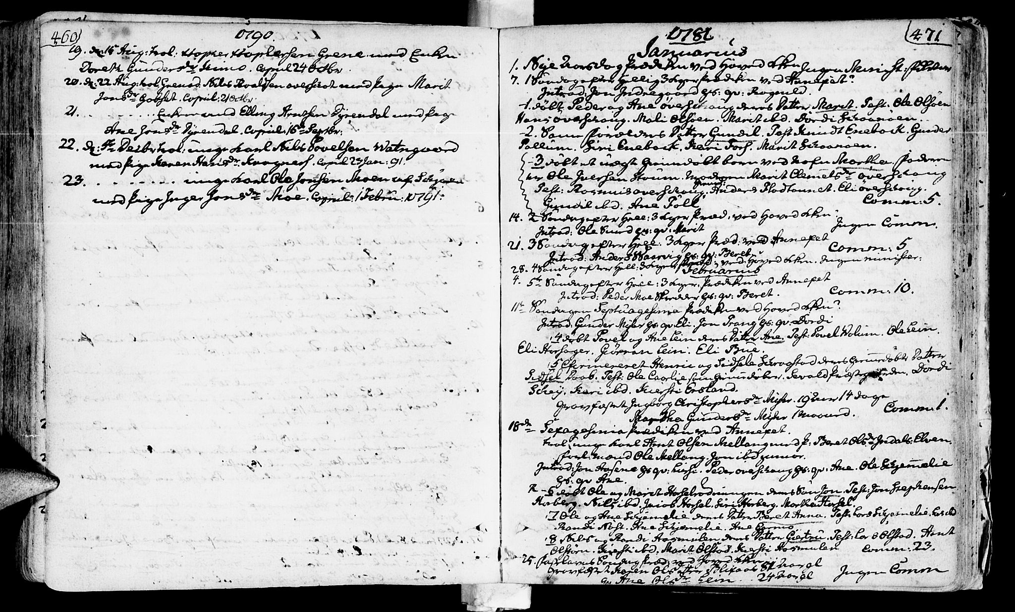 SAT, Ministerialprotokoller, klokkerbøker og fødselsregistre - Sør-Trøndelag, 646/L0605: Ministerialbok nr. 646A03, 1751-1790, s. 460-471