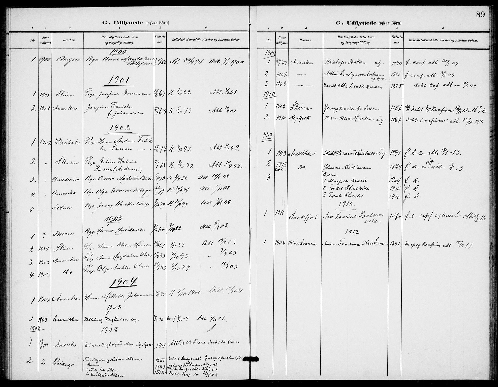 SAKO, Bamble kirkebøker, G/Gb/L0002: Klokkerbok nr. II 2, 1900-1925, s. 89