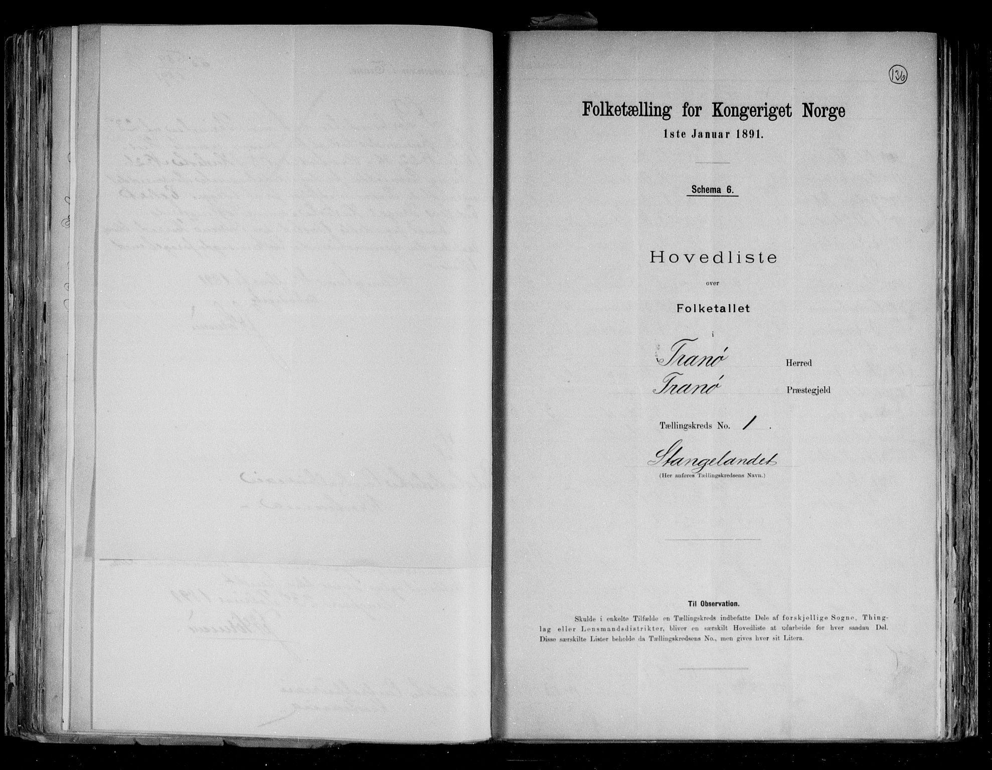 RA, Folketelling 1891 for 1927 Tranøy herred, 1891, s. 6