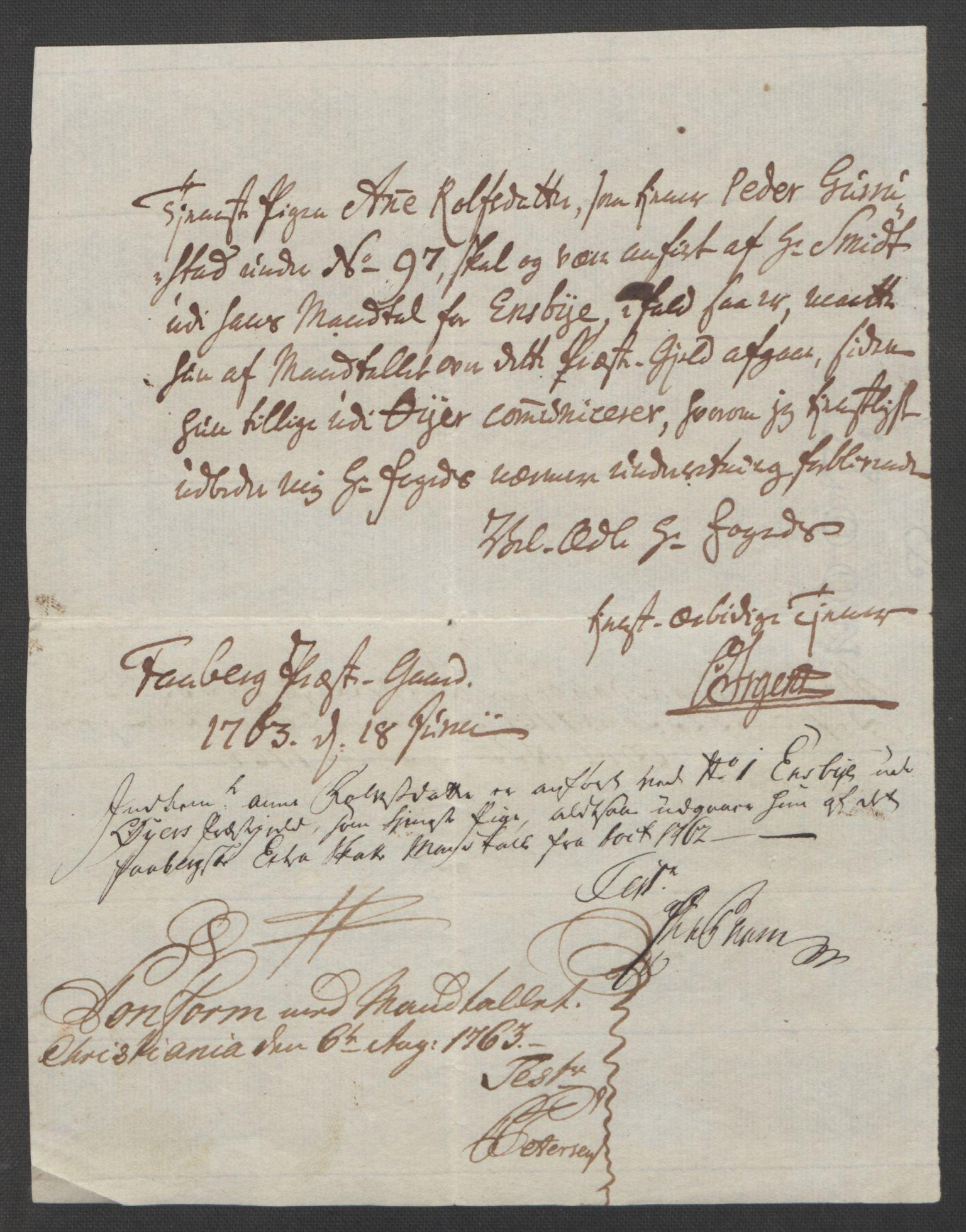 RA, Rentekammeret inntil 1814, Reviderte regnskaper, Fogderegnskap, R17/L1266: Ekstraskatten Gudbrandsdal, 1762-1766, s. 44