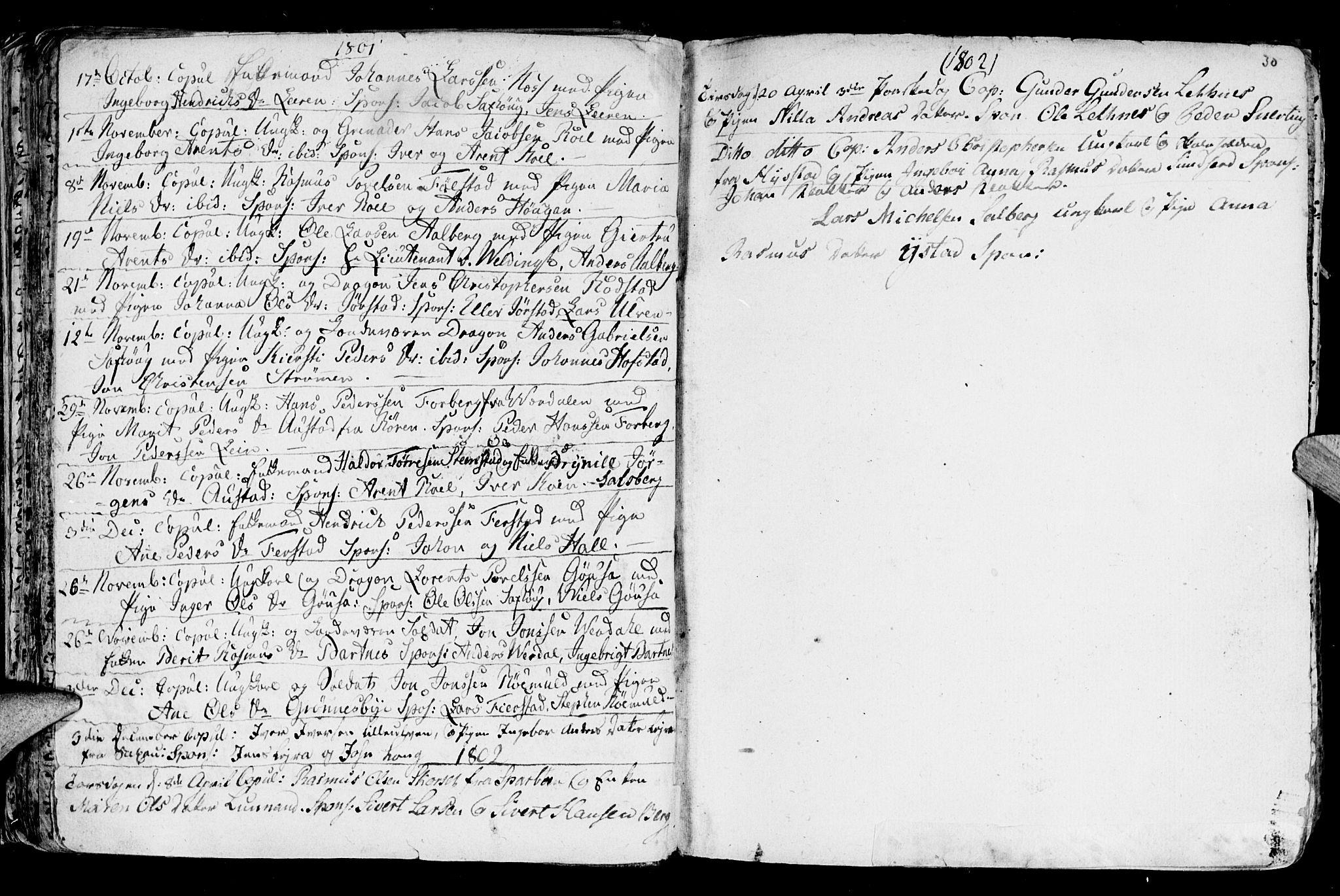 SAT, Ministerialprotokoller, klokkerbøker og fødselsregistre - Nord-Trøndelag, 730/L0273: Ministerialbok nr. 730A02, 1762-1802, s. 30