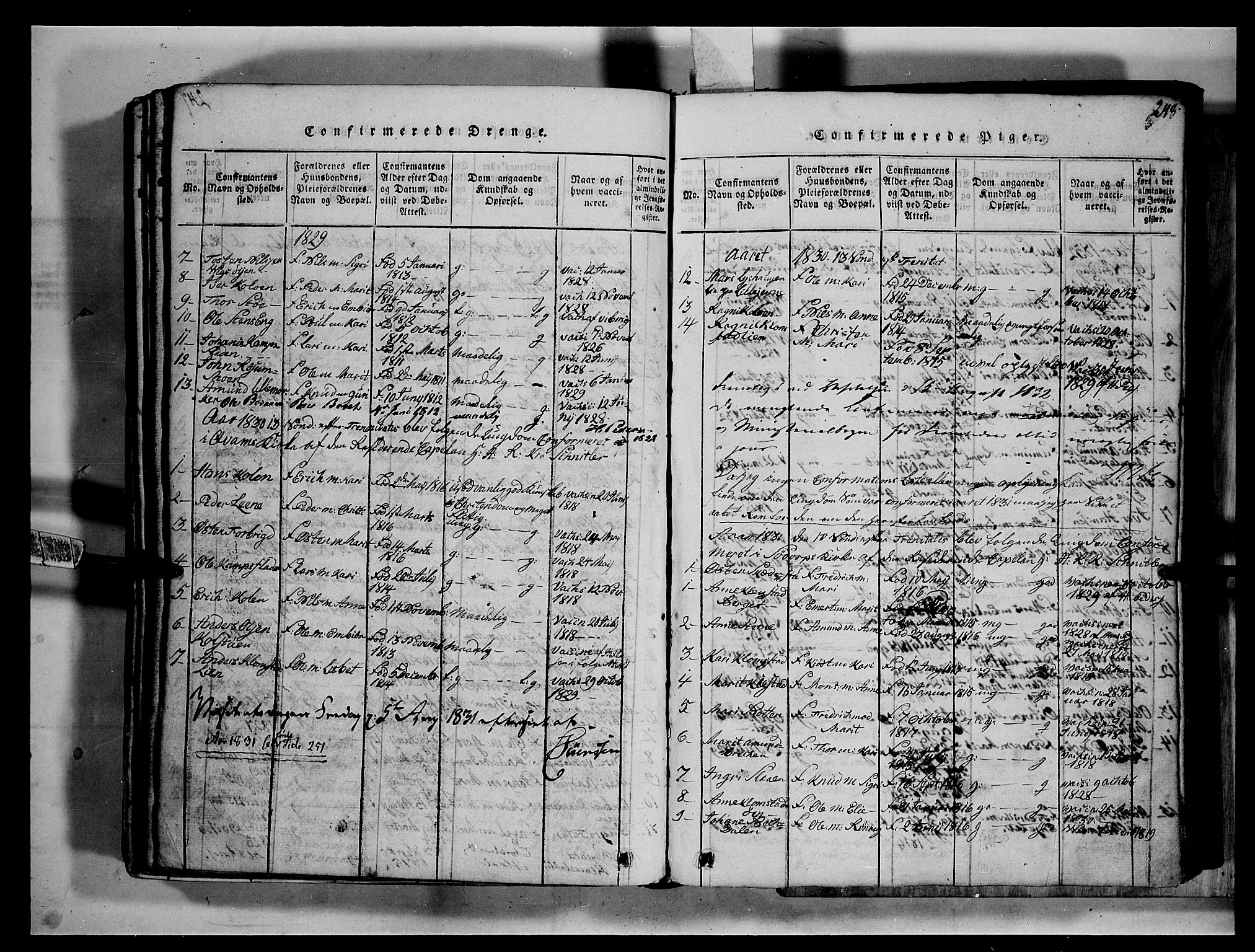 SAH, Fron prestekontor, H/Ha/Hab/L0002: Klokkerbok nr. 2, 1816-1850, s. 248