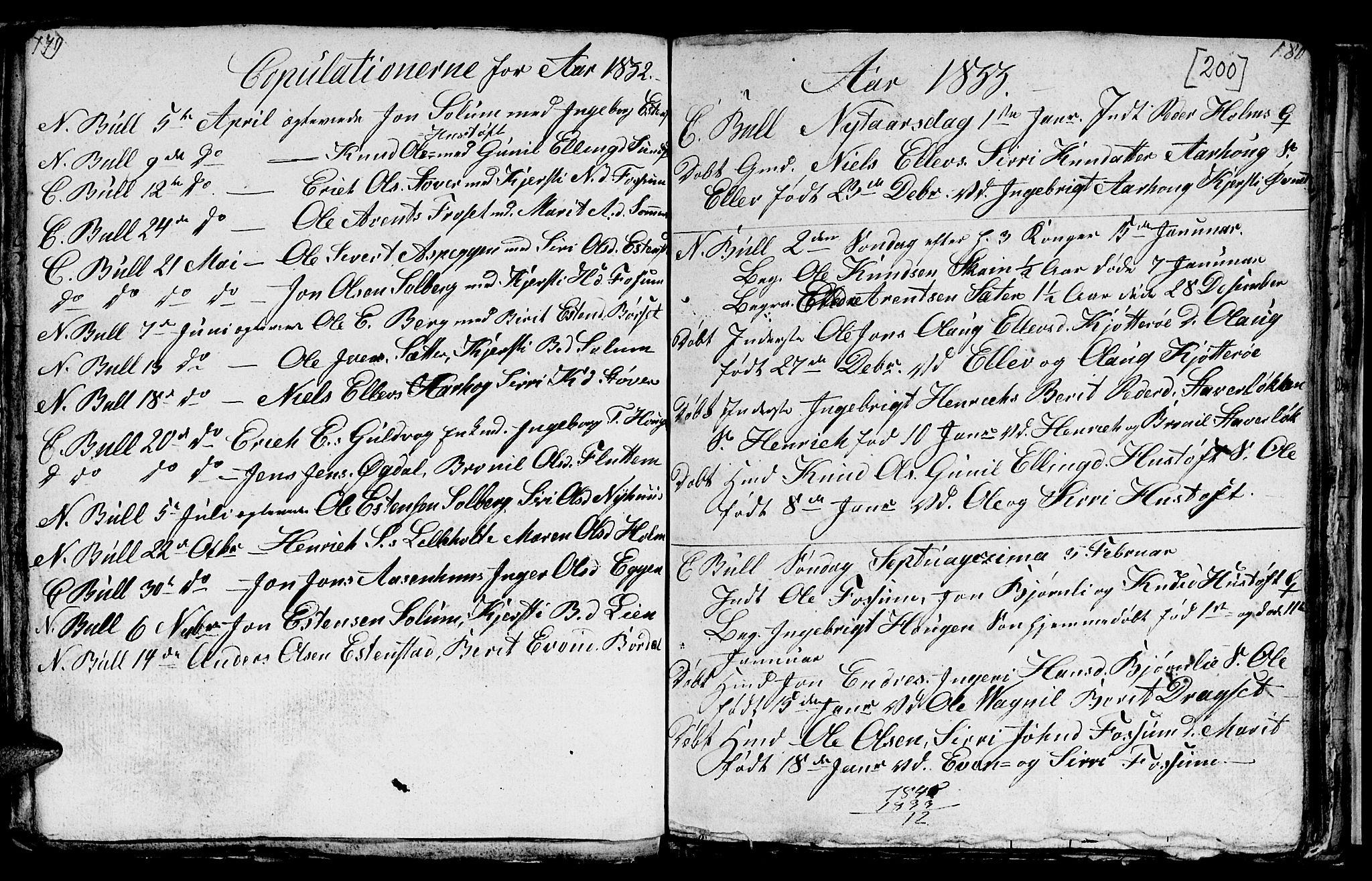 SAT, Ministerialprotokoller, klokkerbøker og fødselsregistre - Sør-Trøndelag, 689/L1042: Klokkerbok nr. 689C01, 1812-1841, s. 199-200