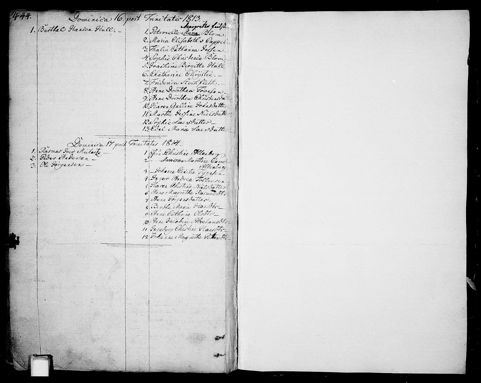 SAKO, Skien kirkebøker, F/Fa/L0004: Ministerialbok nr. 4, 1792-1814, s. 444-445
