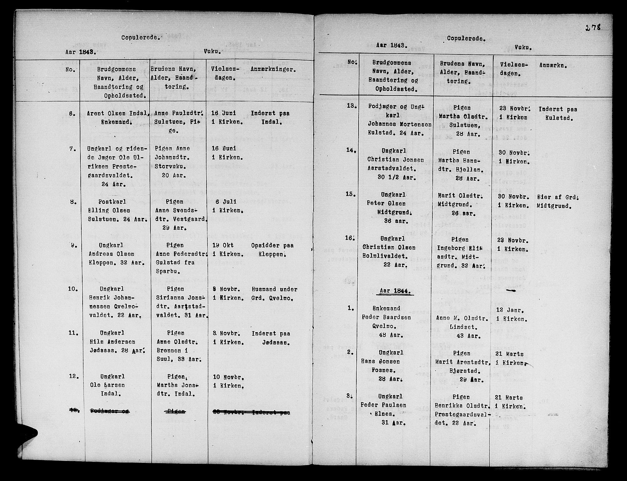 SAT, Ministerialprotokoller, klokkerbøker og fødselsregistre - Nord-Trøndelag, 724/L0265: Klokkerbok nr. 724C01, 1816-1845, s. 278