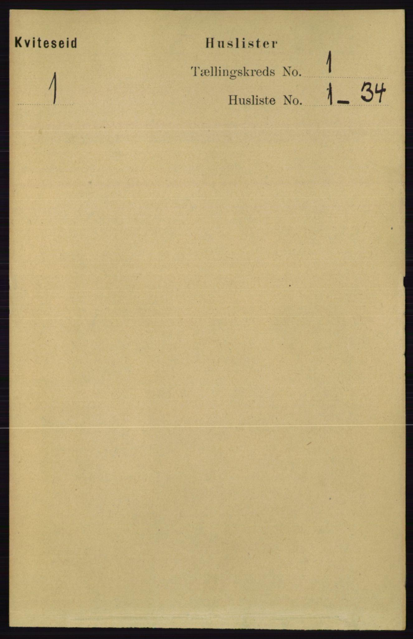 RA, Folketelling 1891 for 0829 Kviteseid herred, 1891, s. 40